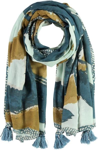 Schals für Frauen - Passigatti Baumwoll Modal Schal beige mint  - Onlineshop ABOUT YOU