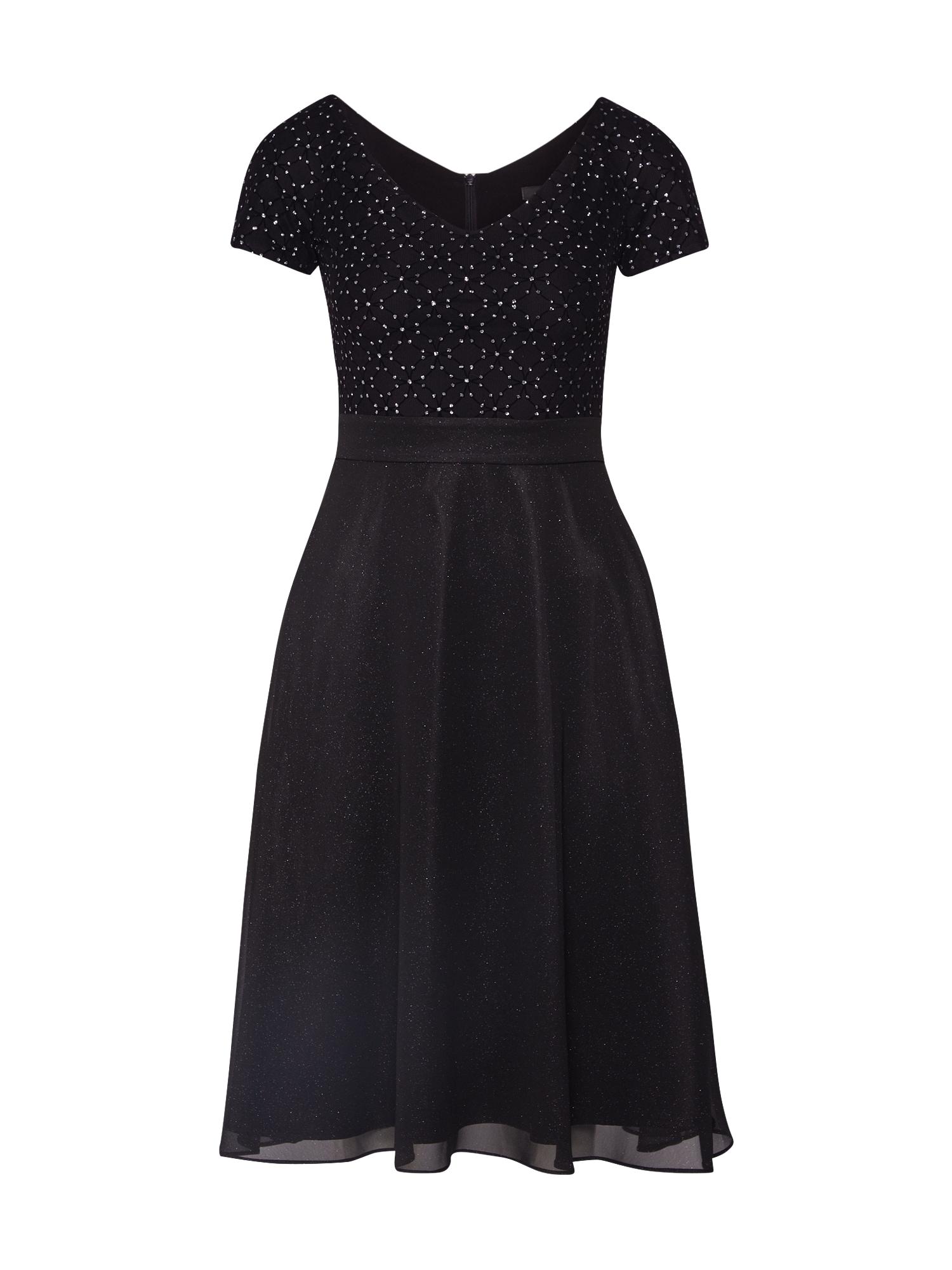 SWING Suknelė juoda / sidabrinė
