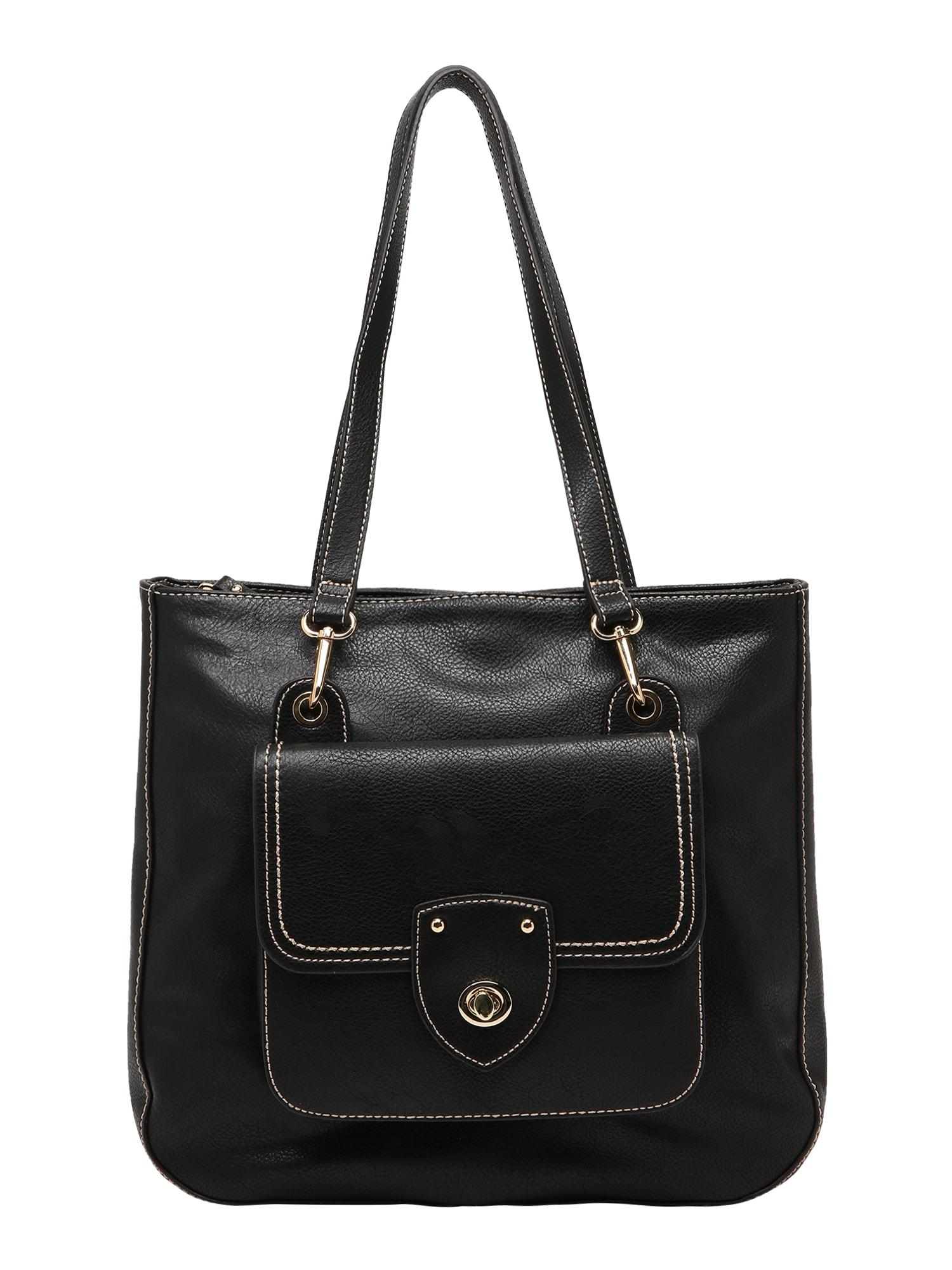 Nákupní taška JOLANDA černá TOM TAILOR