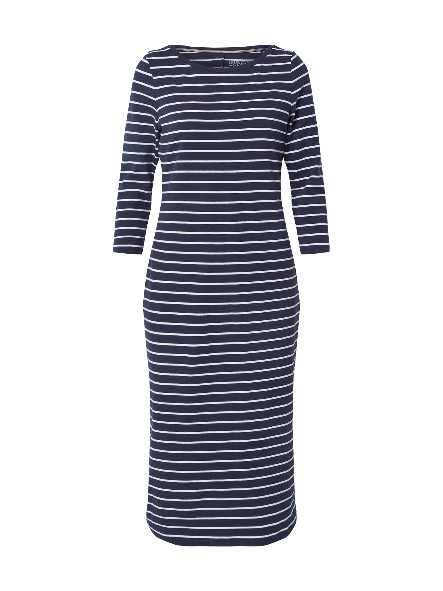 ESPRIT Suknelė 'OCS Scallp' balta / tamsiai mėlyna