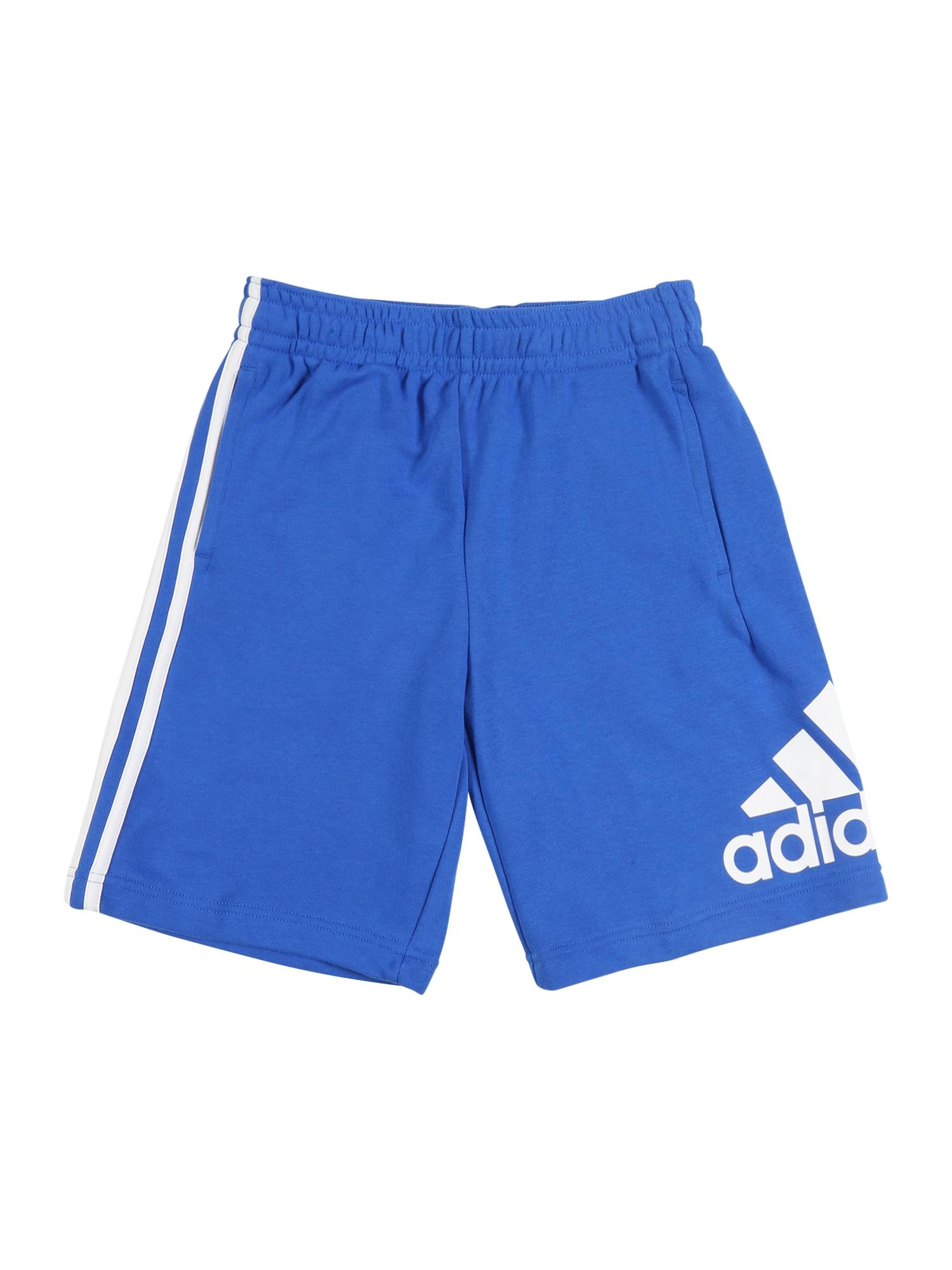 ADIDAS PERFORMANCE Športové nohavice  biela / modré