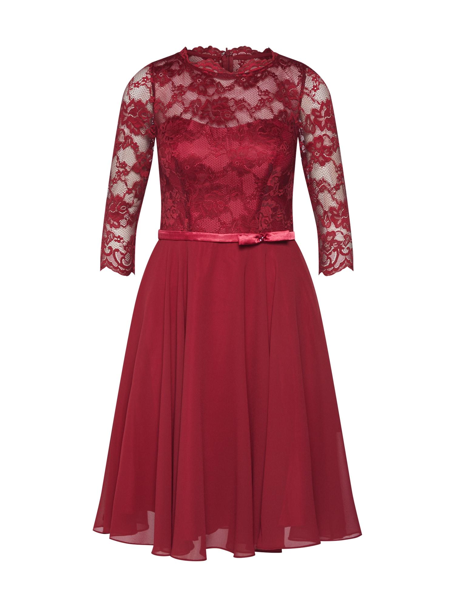 mascara Kokteilinė suknelė vyno raudona spalva
