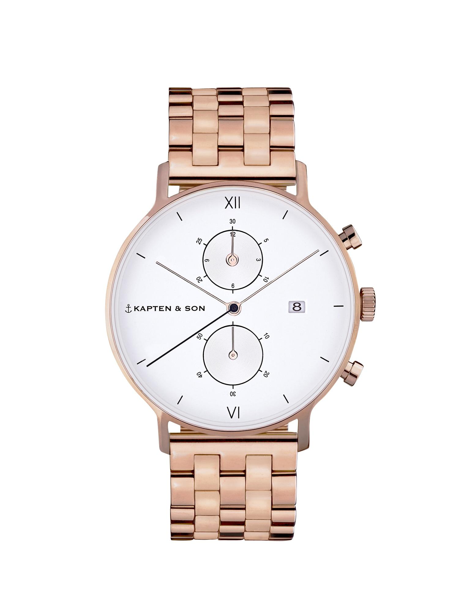 Kapten & Son Analoginis (įprastinio dizaino) laikrodis 'Small Chrono Steel' bronzinė
