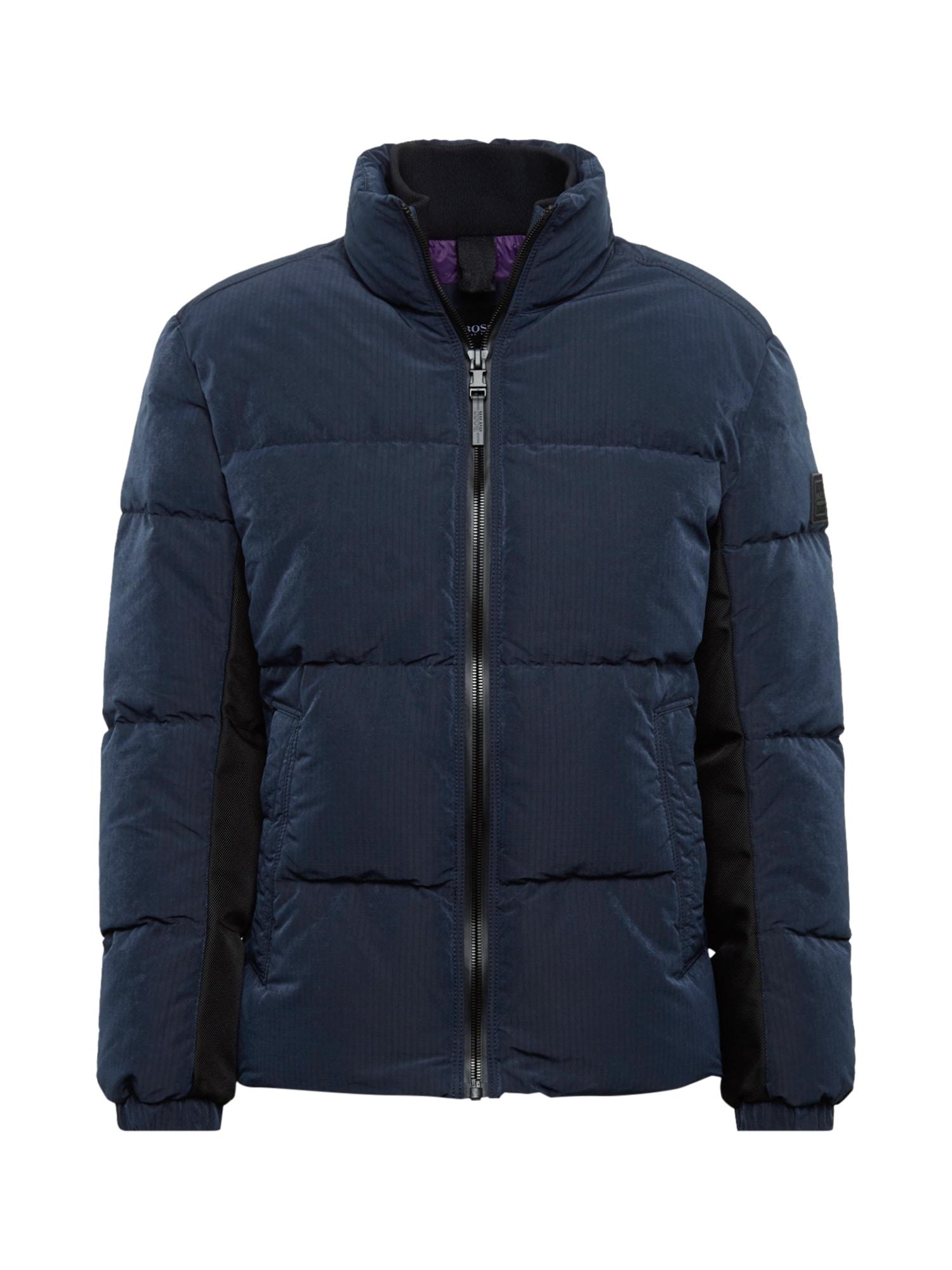 BOSS Žieminė striukė 'Odrean' tamsiai mėlyna