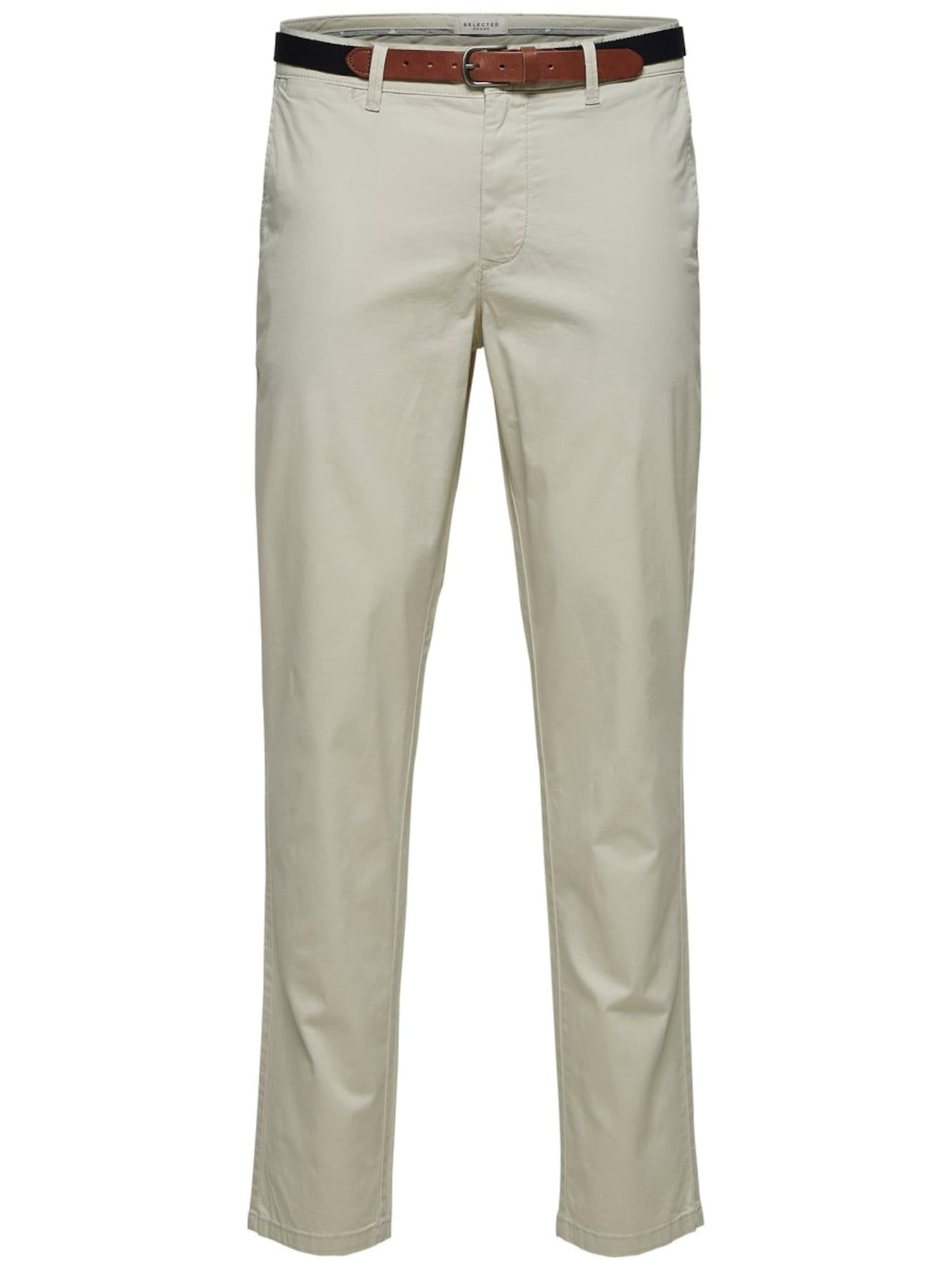 SELECTED HOMME Chino stiliaus kelnės balta