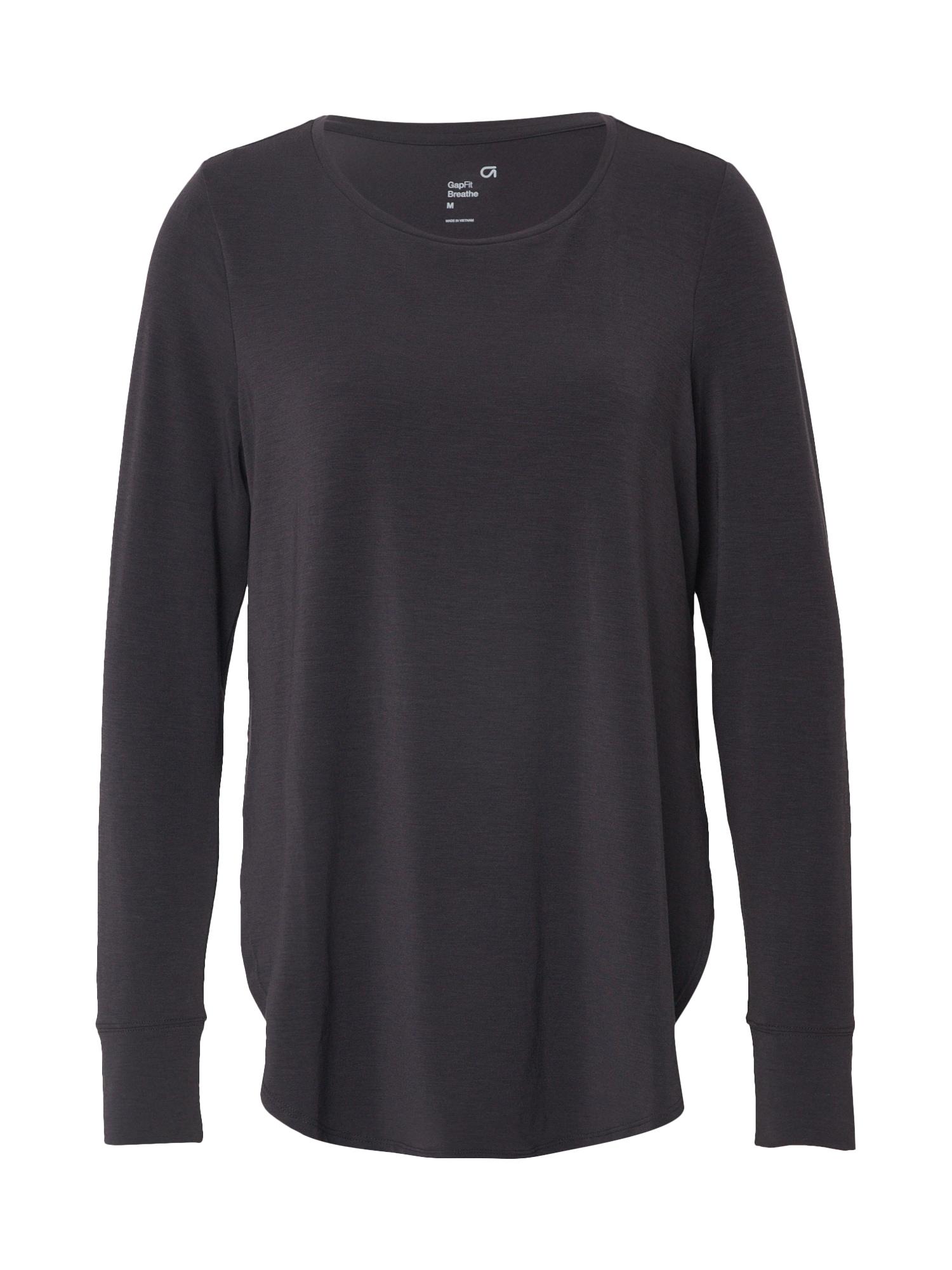 GAP Marškinėliai 'LS BREATHE' juoda