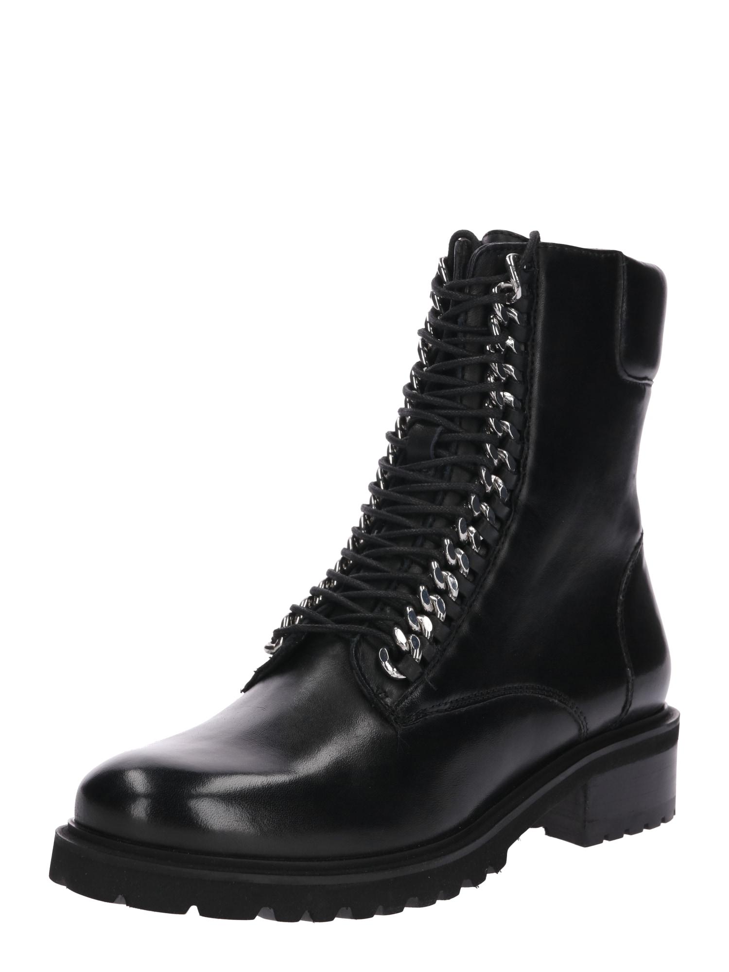 Šněrovací boty Loes černá SPM