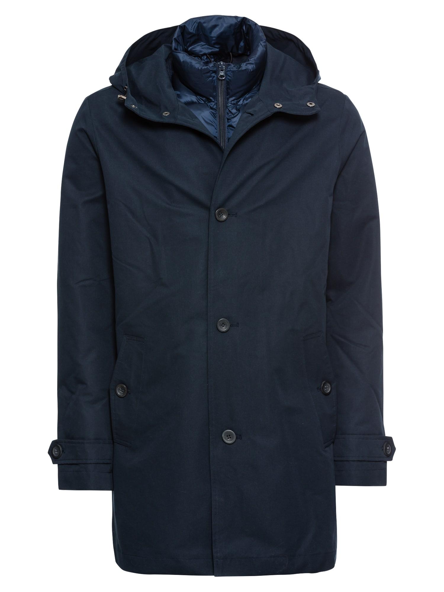 Zimní kabát TAINE TRENCH tmavě modrá Pier One