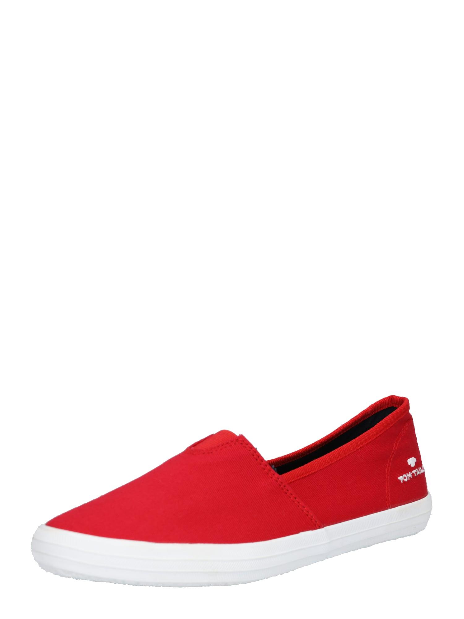 Slipper červená bílá TOM TAILOR