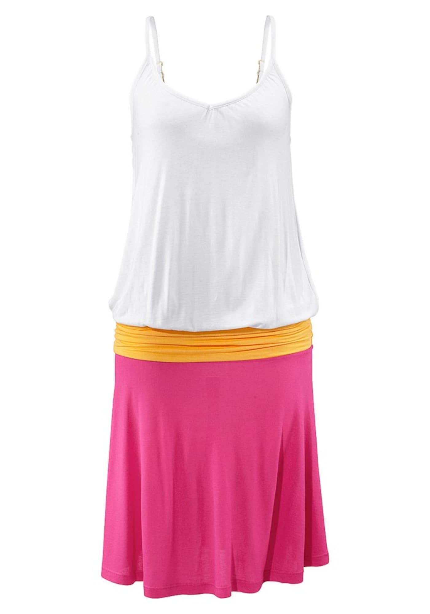 BEACH TIME Paplūdimio suknelė balta / oranžinė / rožinė