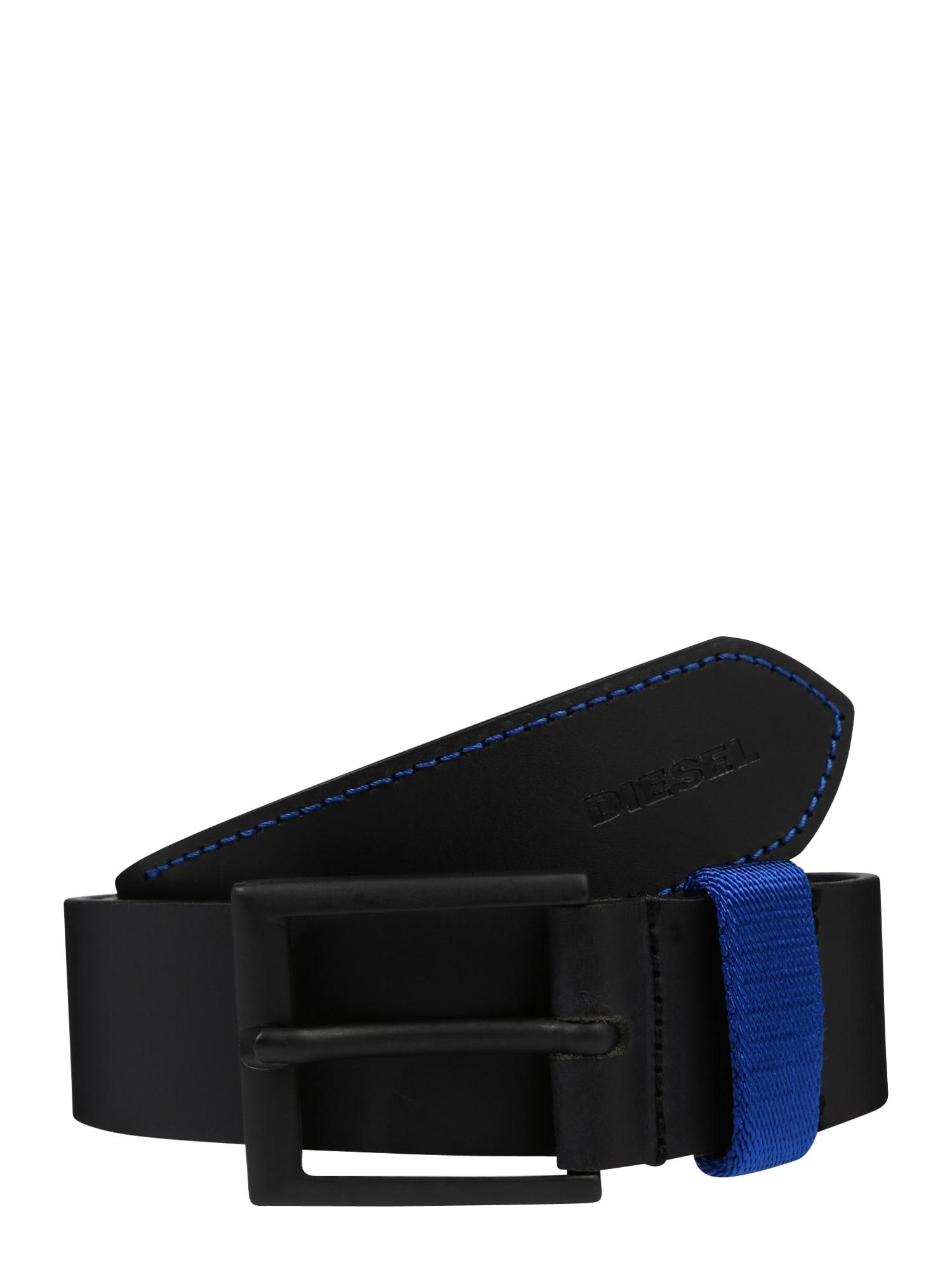 Opasek B-ALANO - belt modrá černá DIESEL