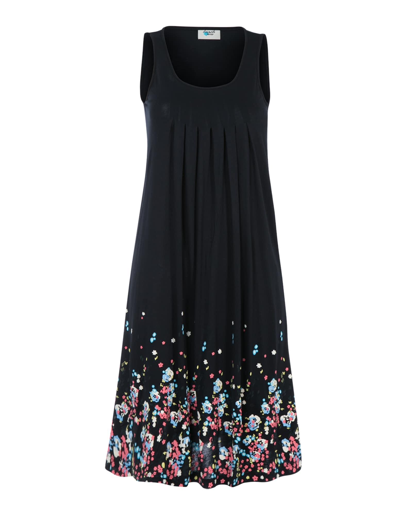 BEACH TIME Vasarinė suknelė šviesiai mėlyna / geltona / rožių spalva / balta