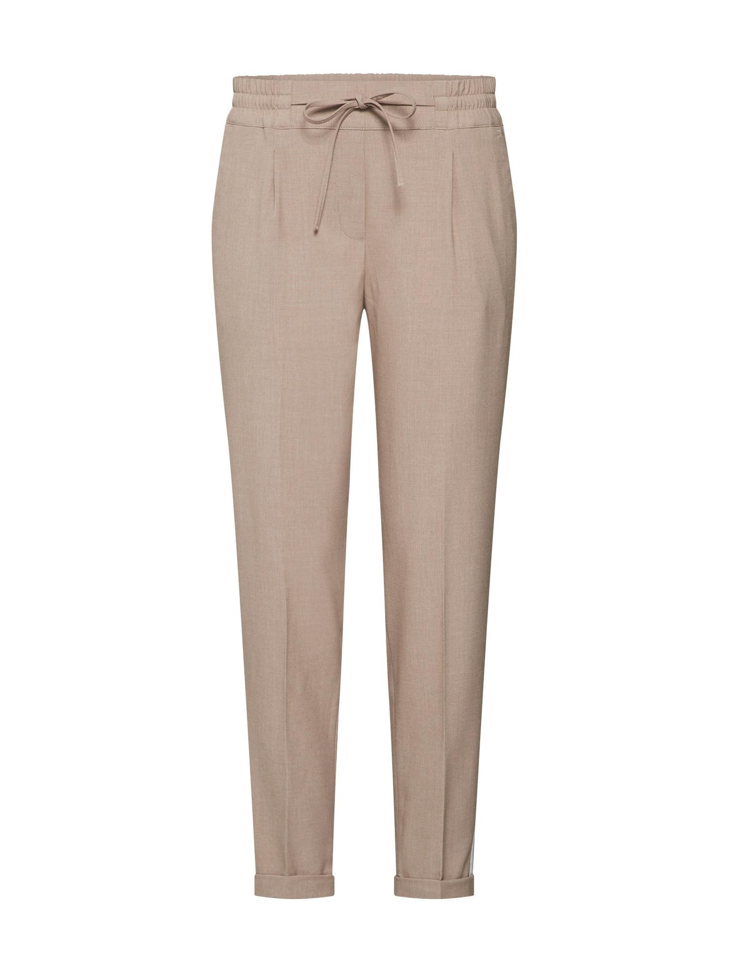 Kalhoty se sklady v pase Melosa pin písková OPUS
