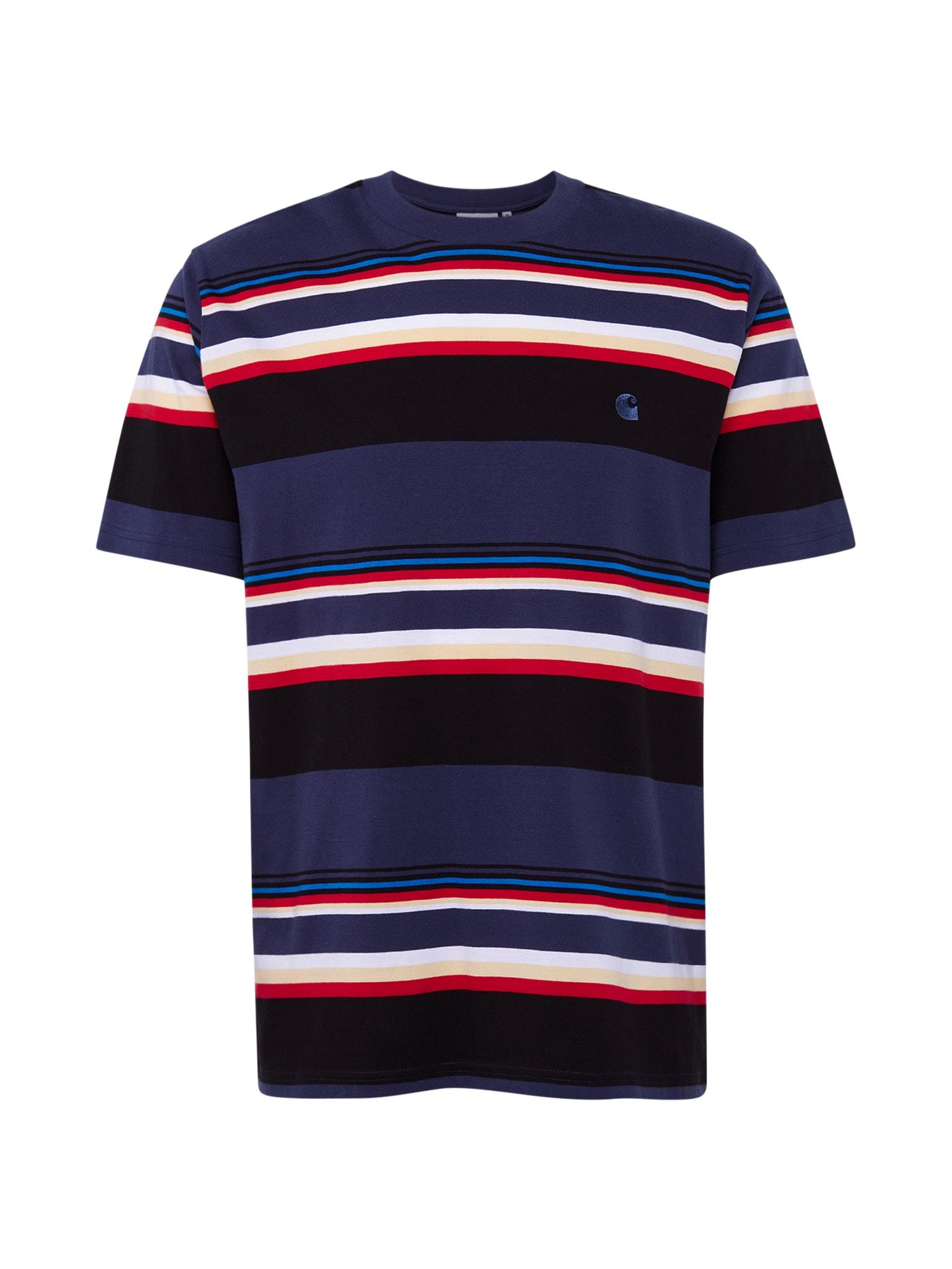 Carhartt WIP Marškinėliai rūdžių raudona / tamsiai mėlyna / balta