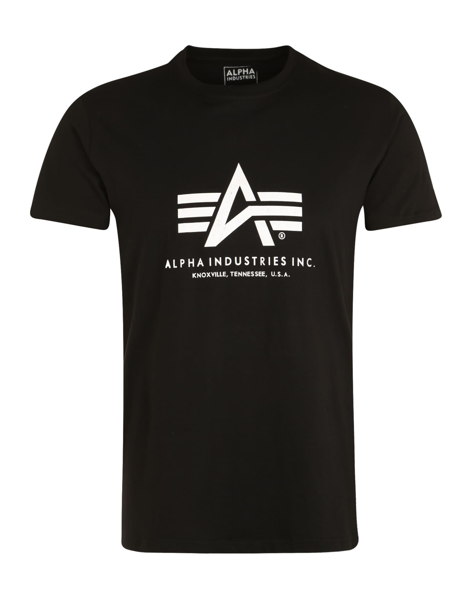 ALPHA INDUSTRIES Marškinėliai juoda