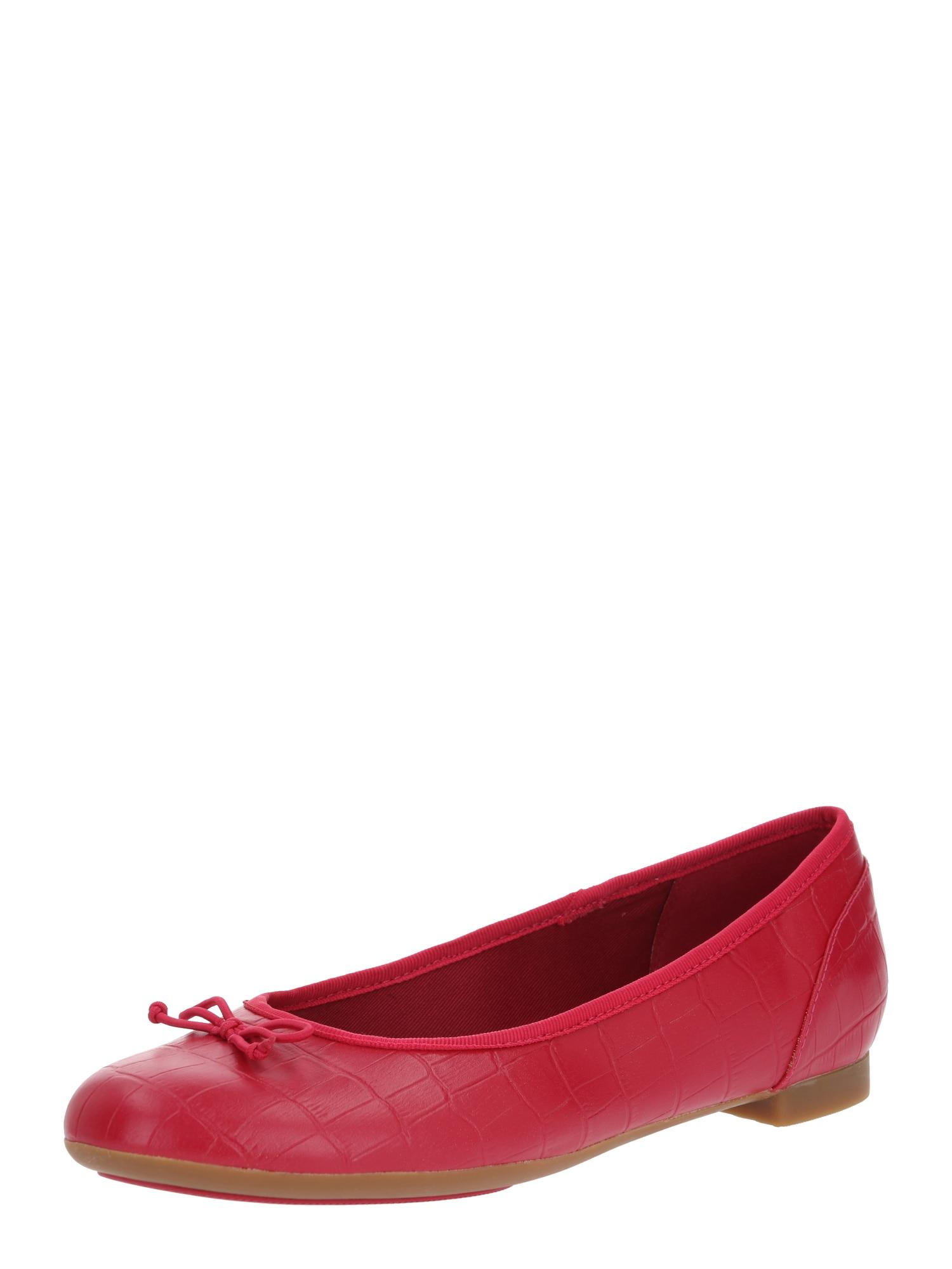 CLARKS Balerinos 'Couture bloom' fuchsijų spalva