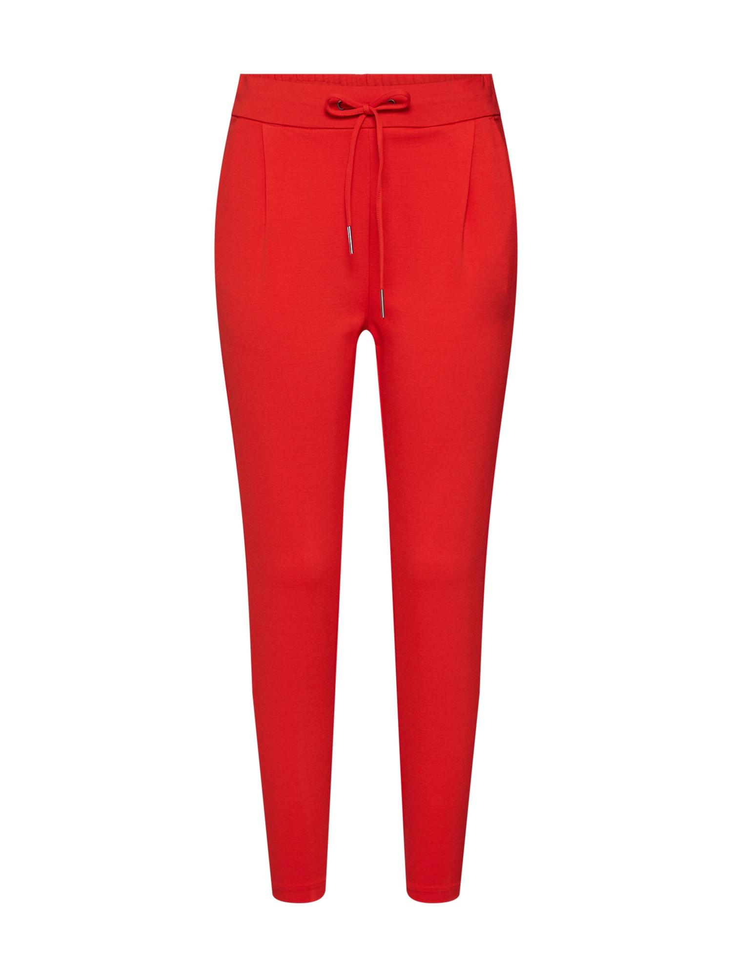 Kalhoty se sklady v pase červená VERO MODA