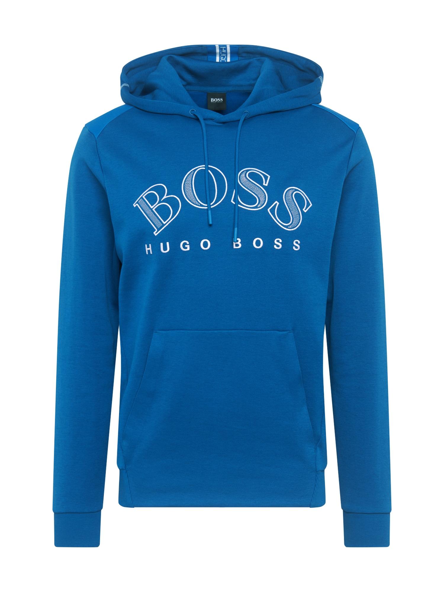 BOSS ATHLEISURE Megztinis be užsegimo 'Soody' mėlyna
