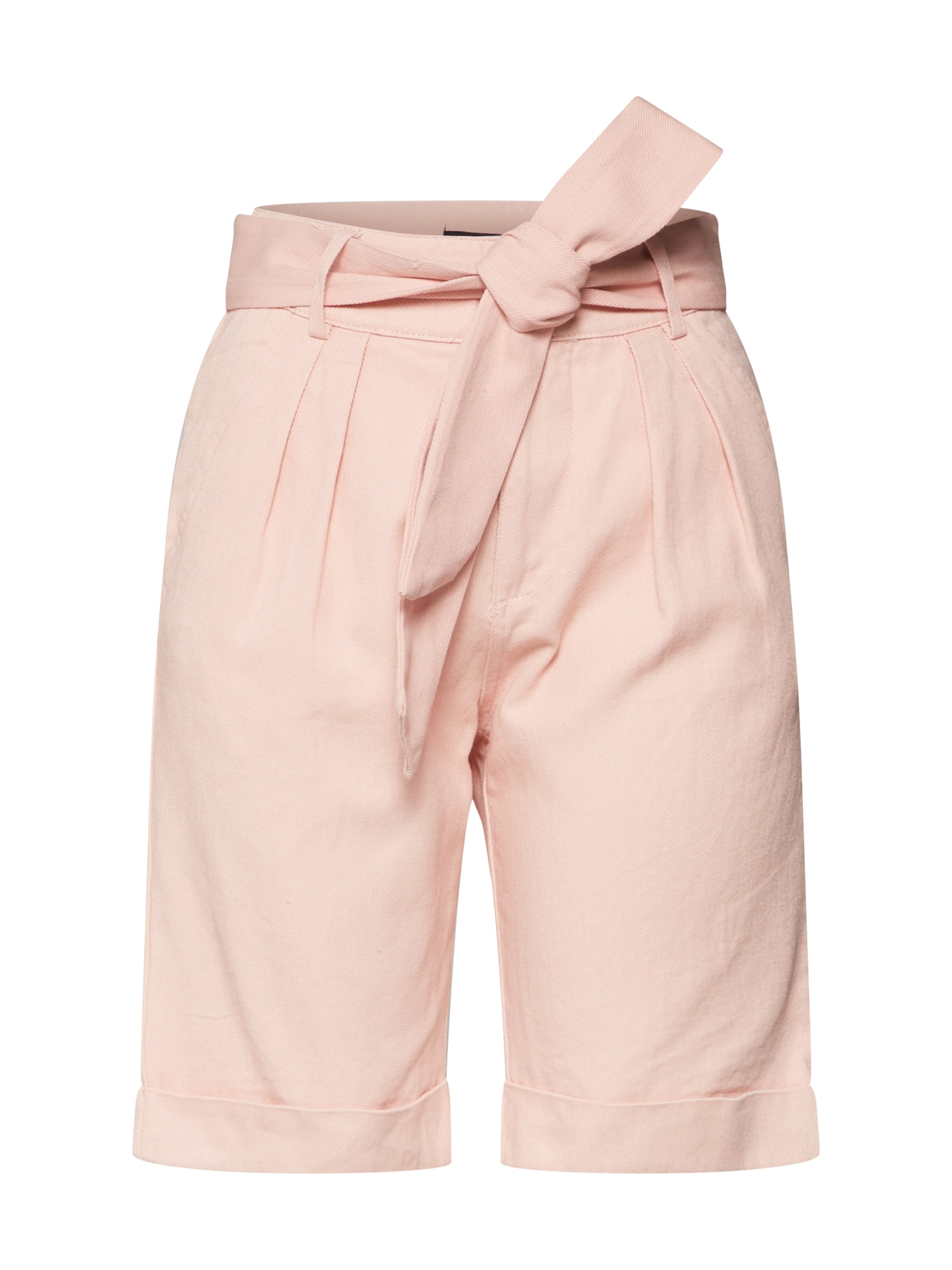 Missguided Kalhoty se sklady v pase 'Belted Turn Up Co ord Short Pink' růžové