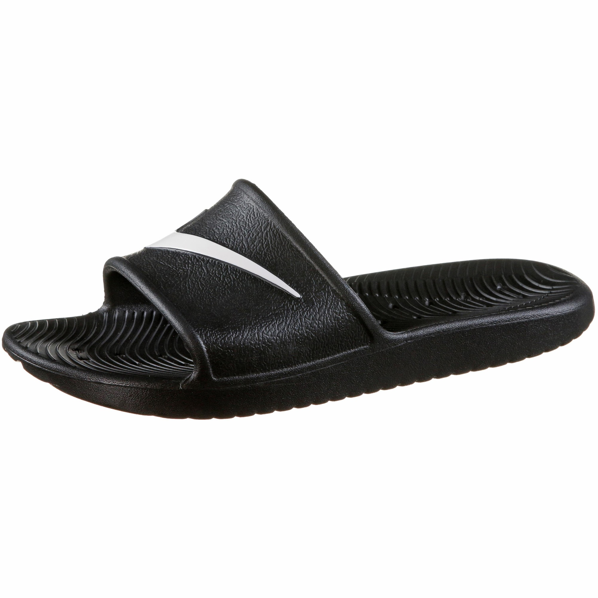 Nike Sportswear Sandalai / maudymosi batai 'Kawa Shower' juoda / balta