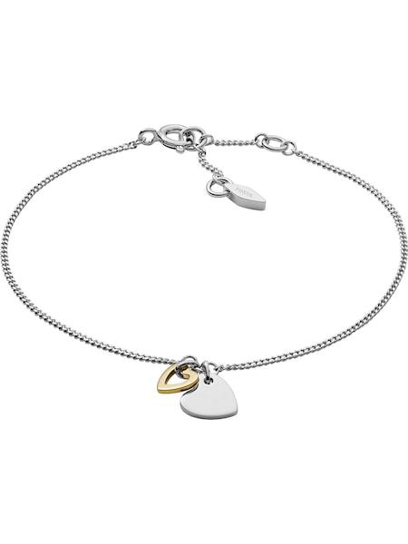 Armbaender für Frauen - FOSSIL Armband »STERLING SILVER, JFS00455998, Herzen« silber  - Onlineshop ABOUT YOU