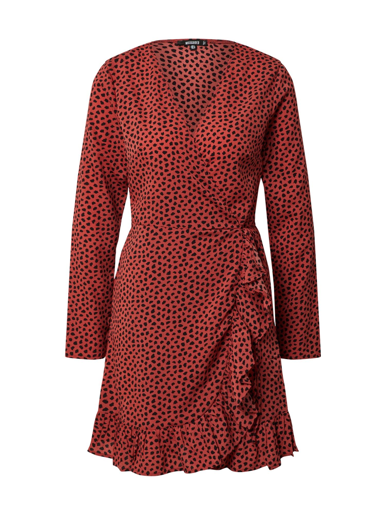 Missguided Vasarinė suknelė rūdžių raudona