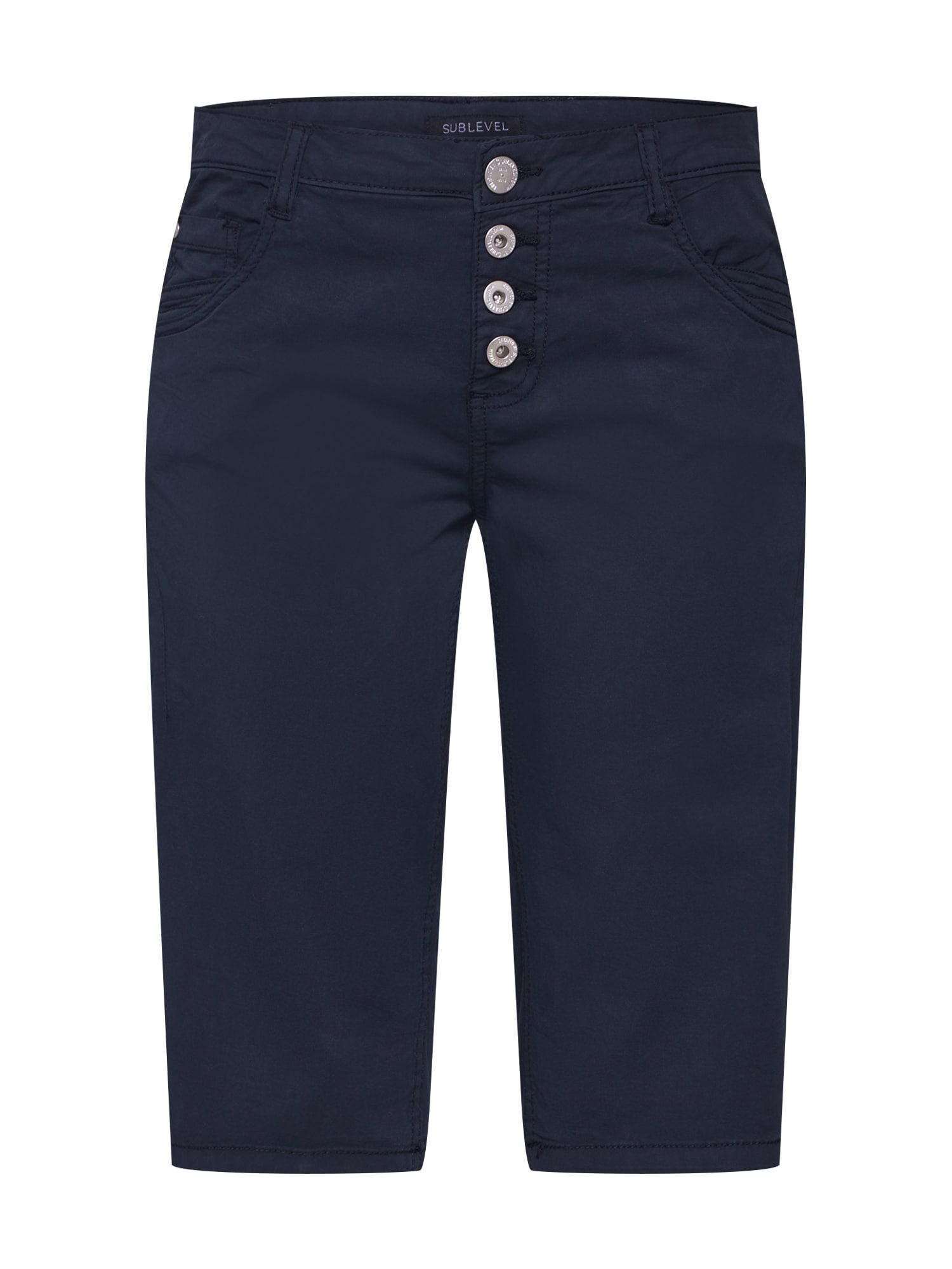 Sublevel, Damen Jeans 'DOB Bermuda Aufschlag', grijs