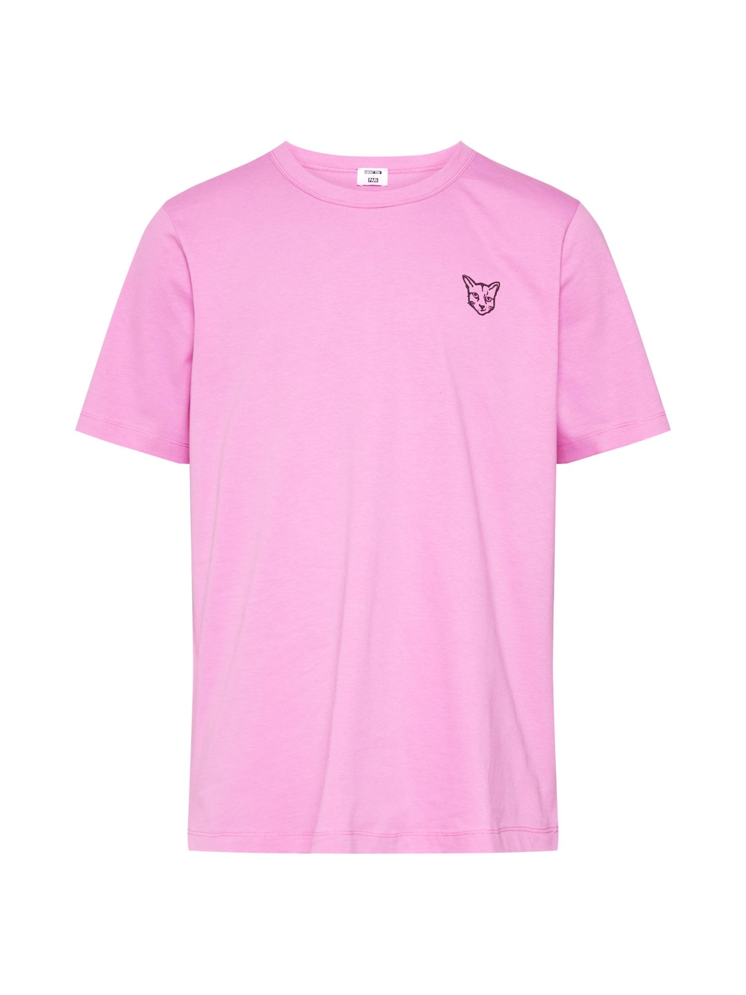 PARI Tričko 'Jim'  čierna / ružová