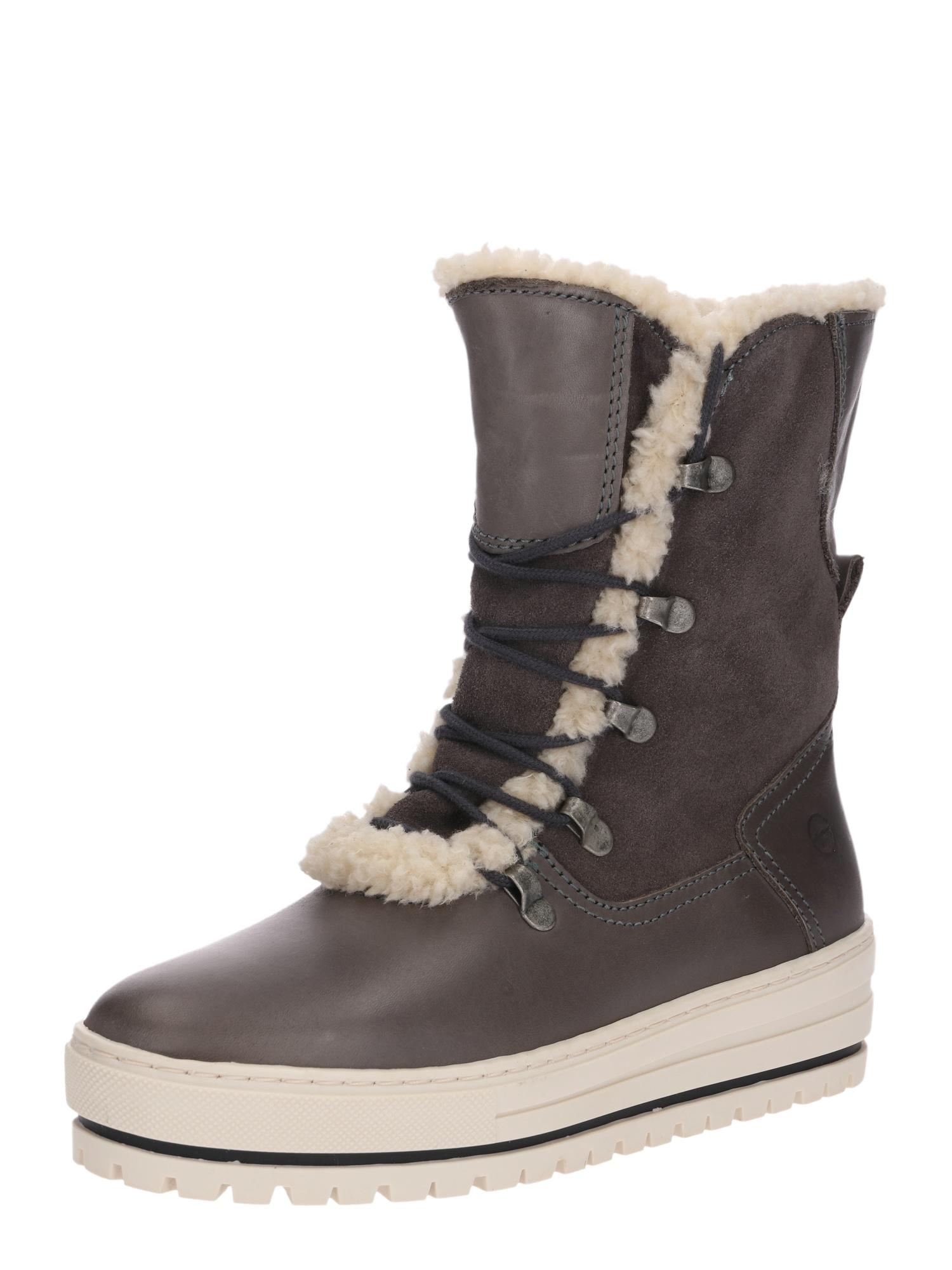 Sněhule Snowboots šedobéžová TAMARIS