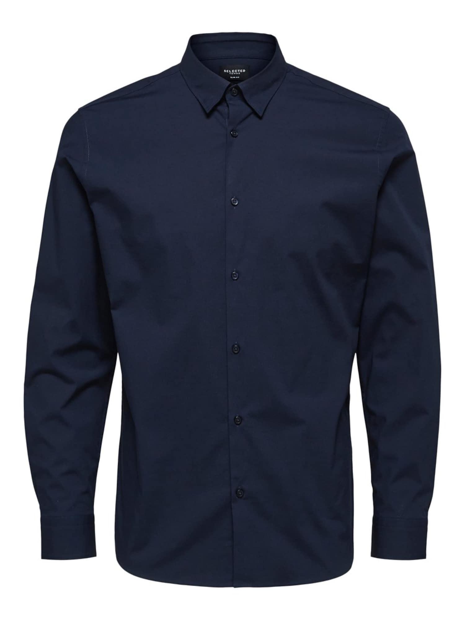 SELECTED HOMME Dalykinio stiliaus marškiniai tamsiai mėlyna