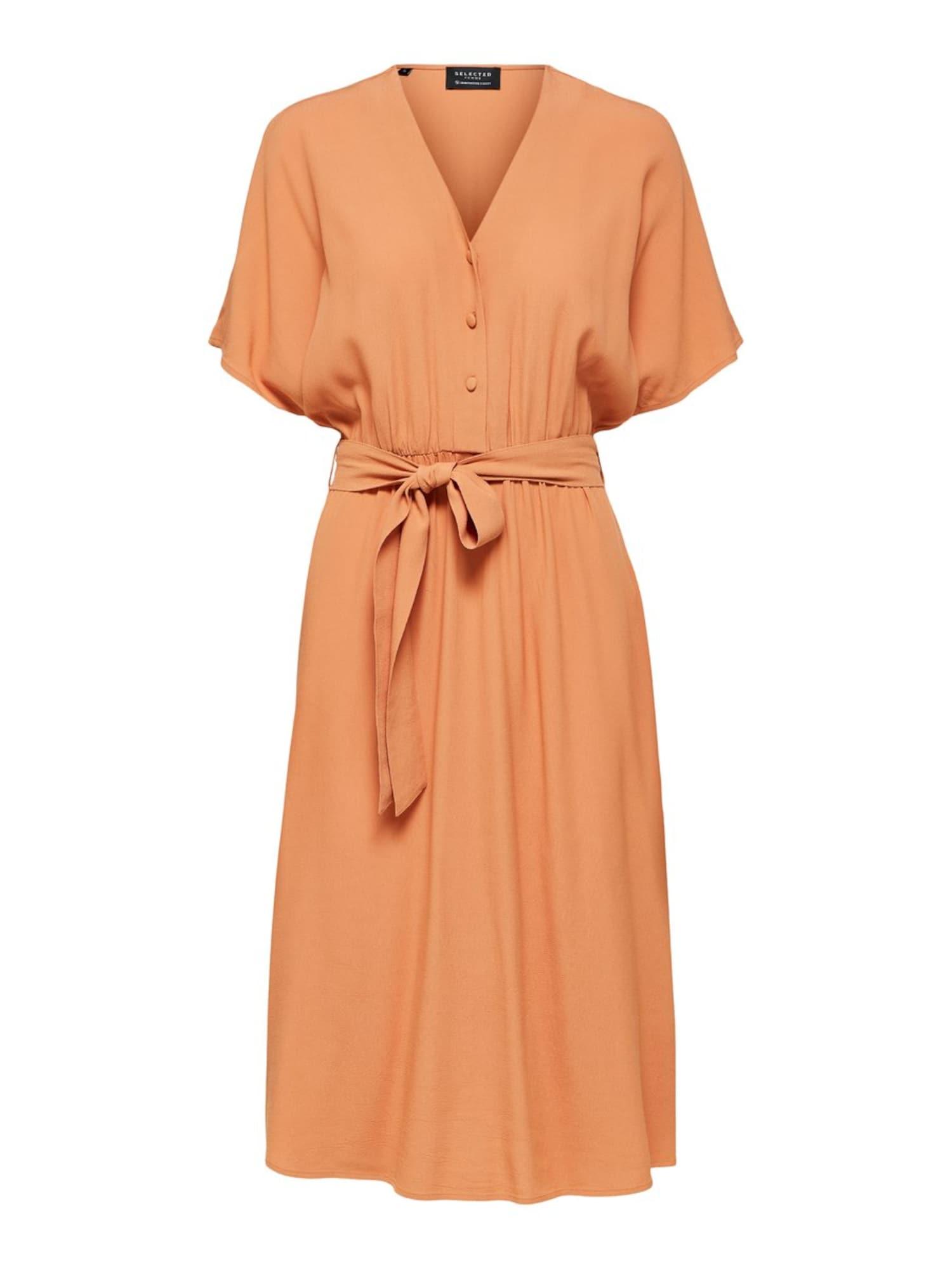 SELECTED FEMME Šaty  oranžová