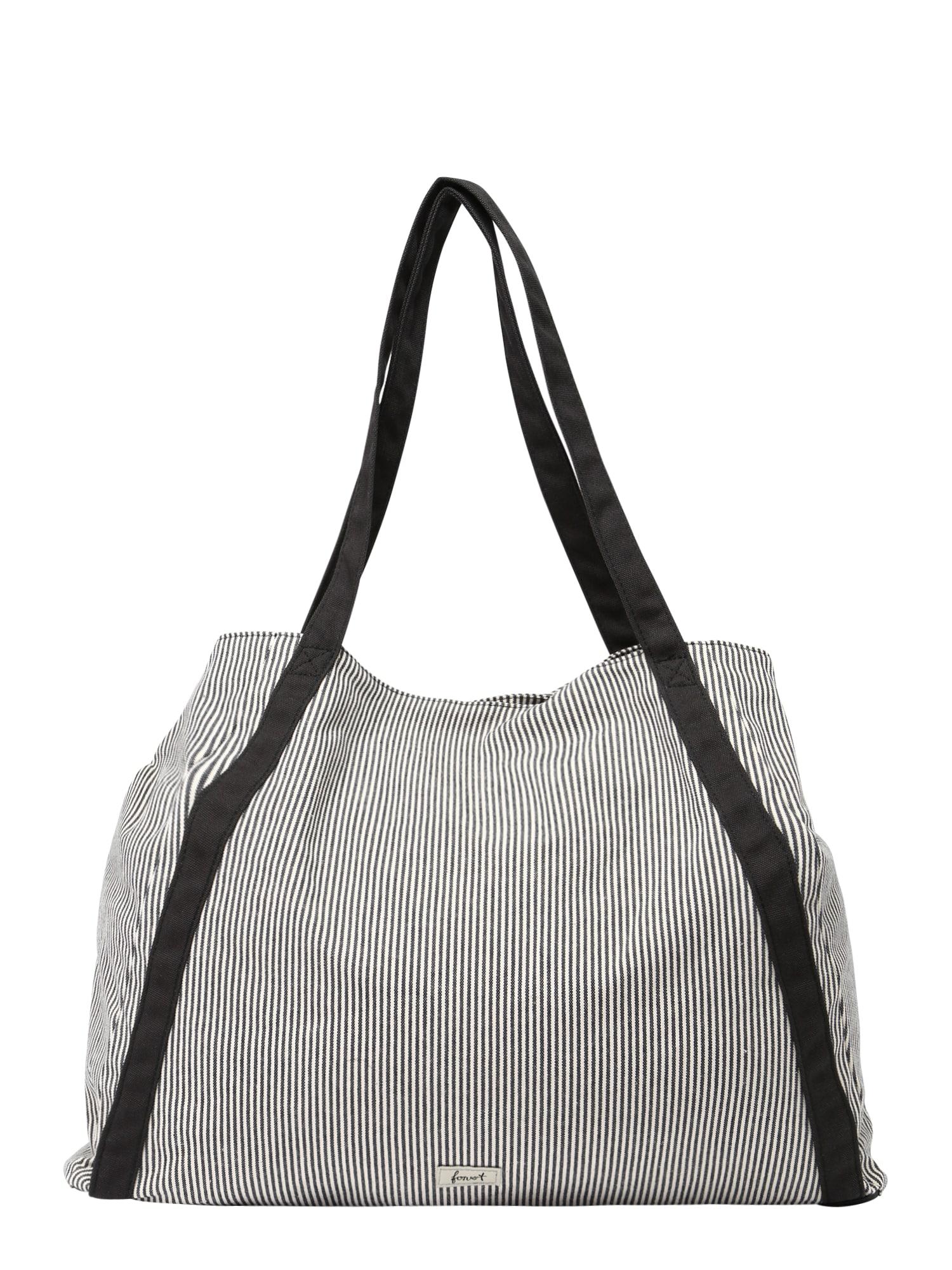 Nákupní taška Cloe šedá bílá Forvert