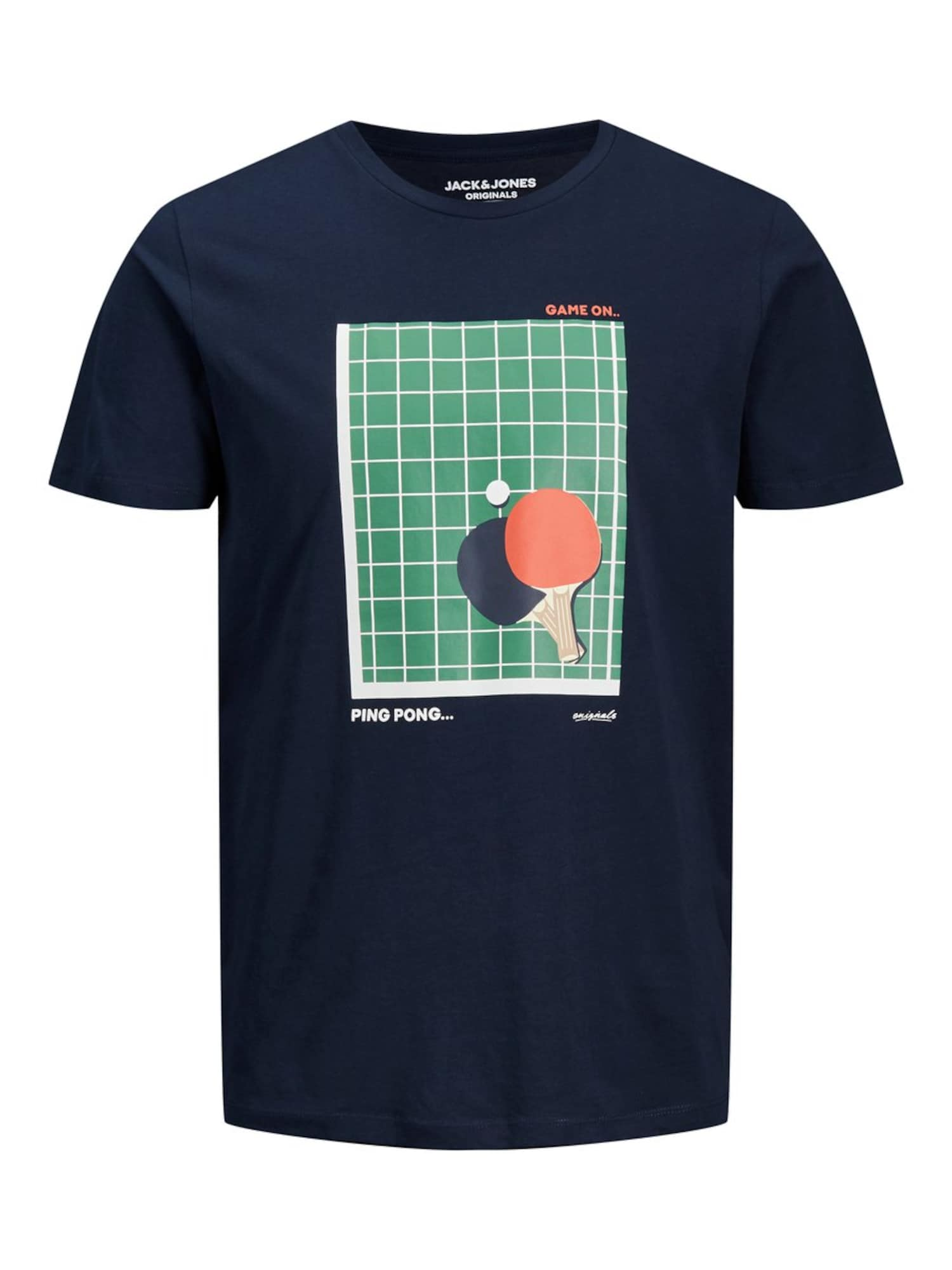 JACK & JONES Marškinėliai 'JORGREGORI TEE SS CREW NECK' mėlyna