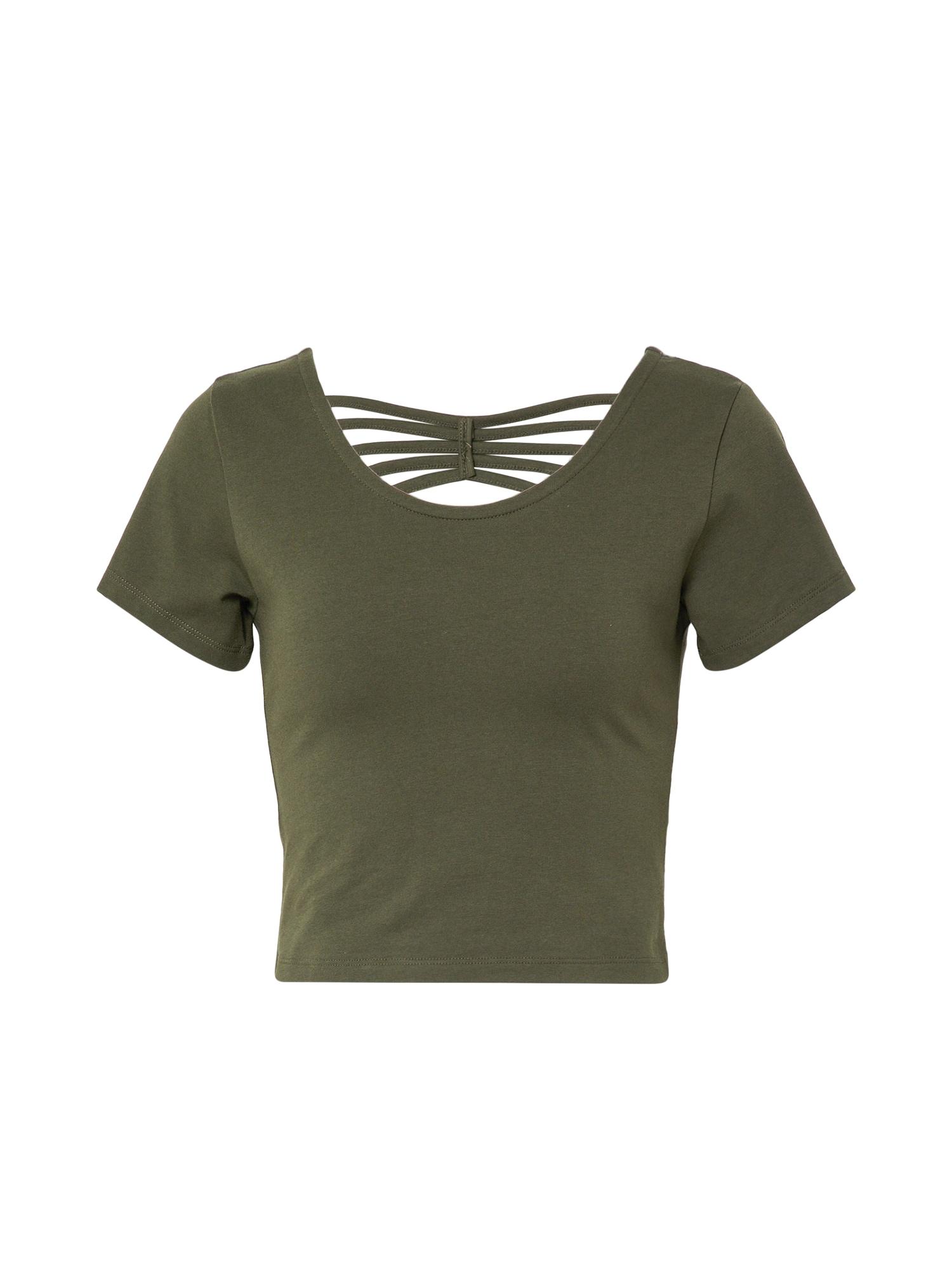 ABOUT YOU Marškinėliai 'Ayana' rusvai žalia
