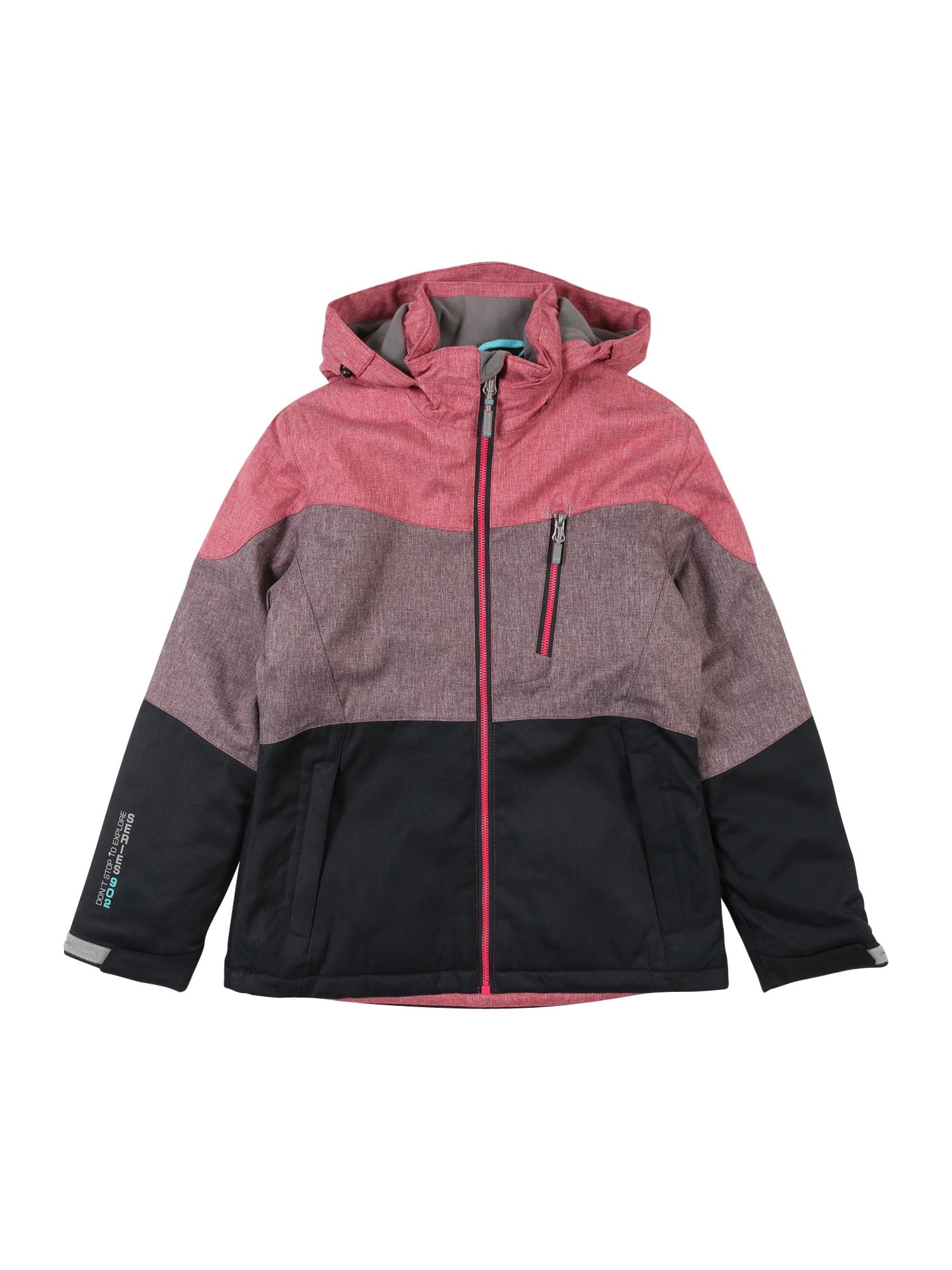 KILLTEC Laisvalaikio striukė 'Jadira Jr' slyvų spalva / rožinė