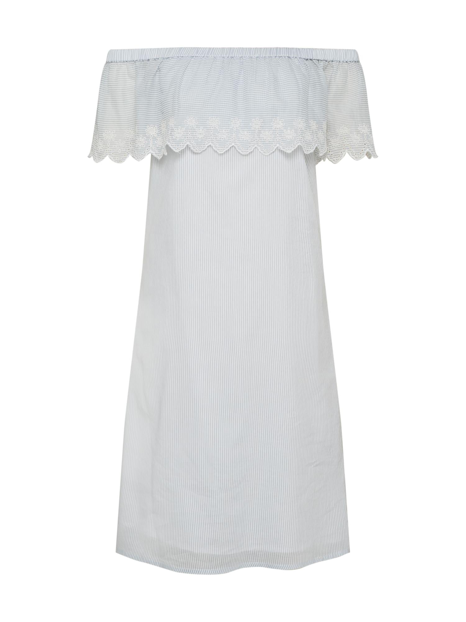 Letní šaty VITIPO OFFSHOULDER SHORT DRESS světlemodrá VILA