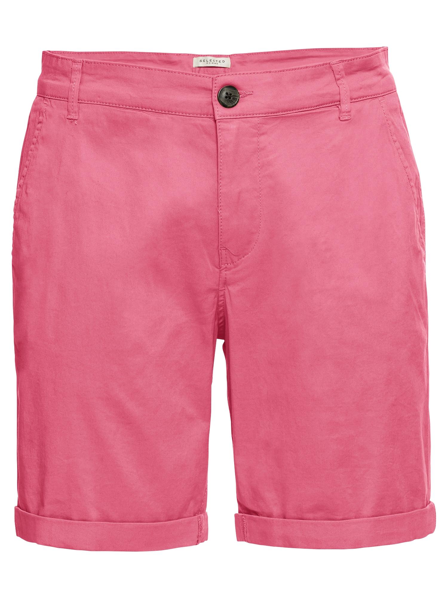Chino kalhoty tmavě růžová SELECTED HOMME