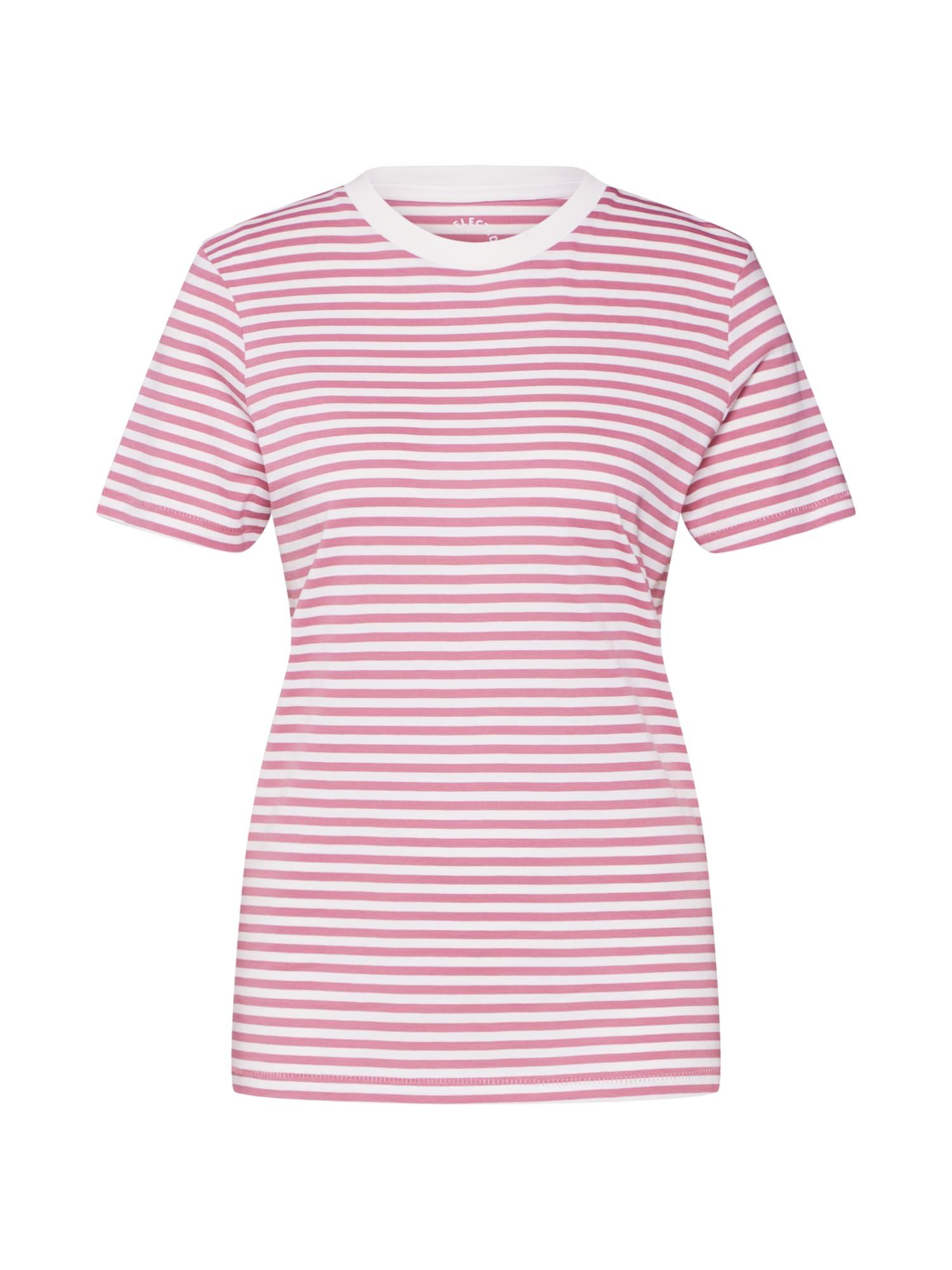 SELECTED FEMME Tričko  biela / ružová