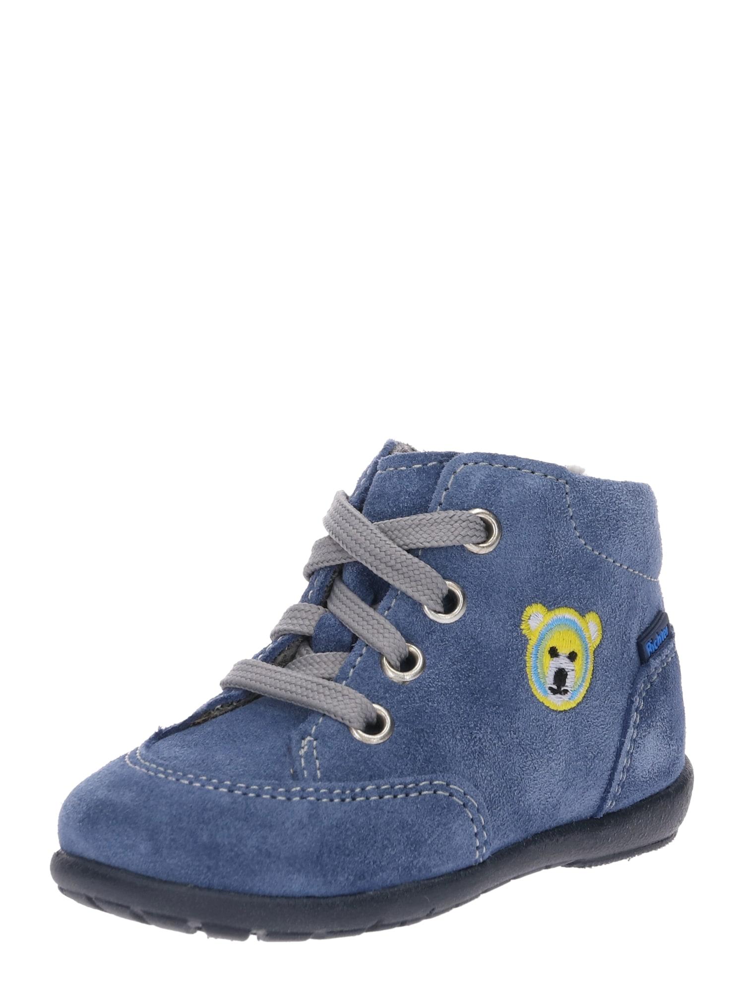 RICHTER Auliniai batai su kulniuku 'Velour river' šviesiai mėlyna