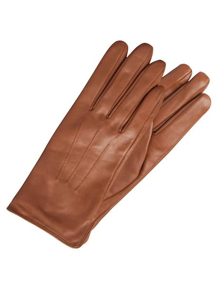 Handschuhe für Frauen - PIECES Lederhandschuhe braun  - Onlineshop ABOUT YOU