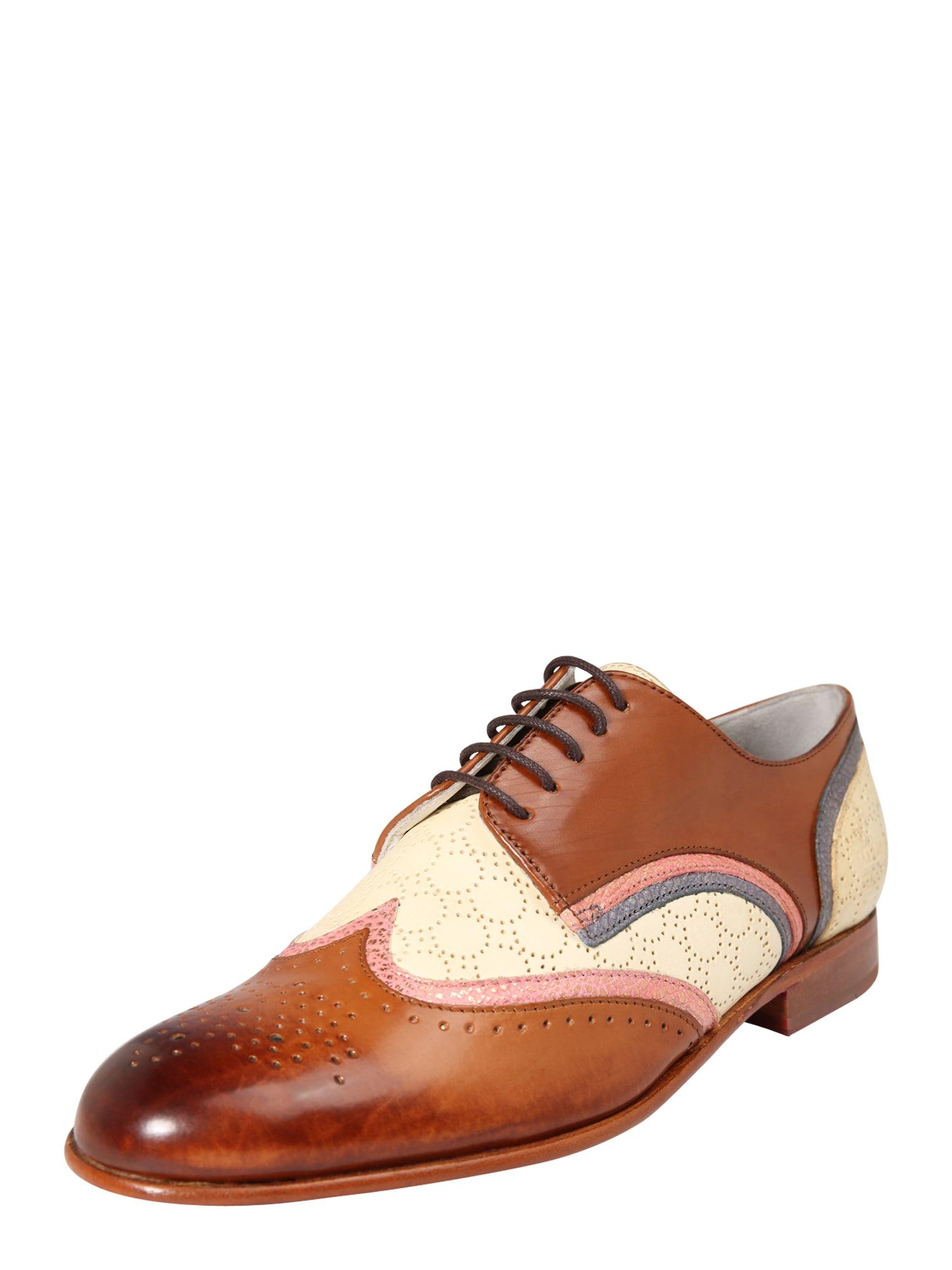Šněrovací boty Sally 15 hnědá růžová bílá MELVIN & HAMILTON
