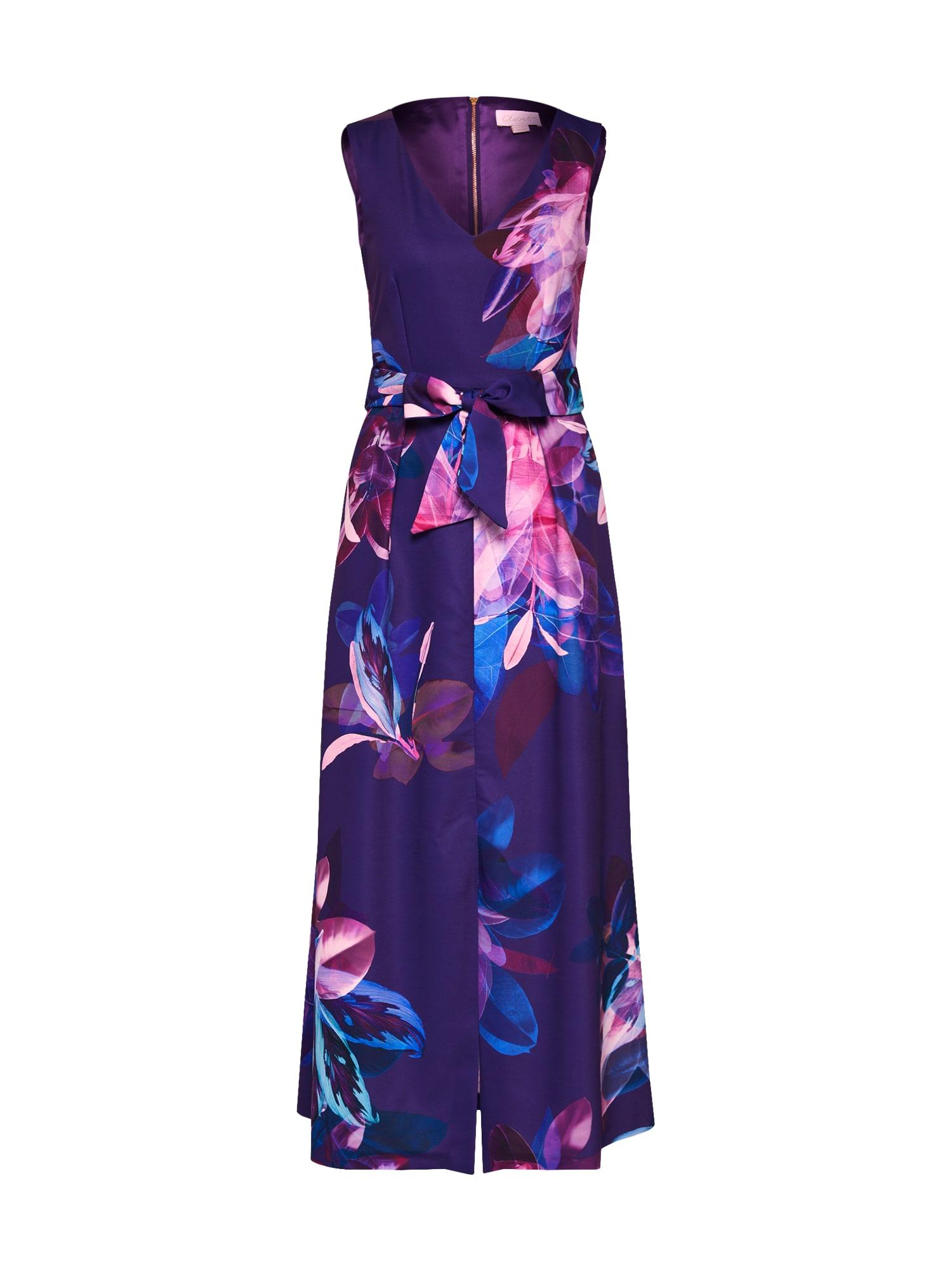 Letní šaty CLOSET GOLD MAXI DRESS modrá fialová Closet London
