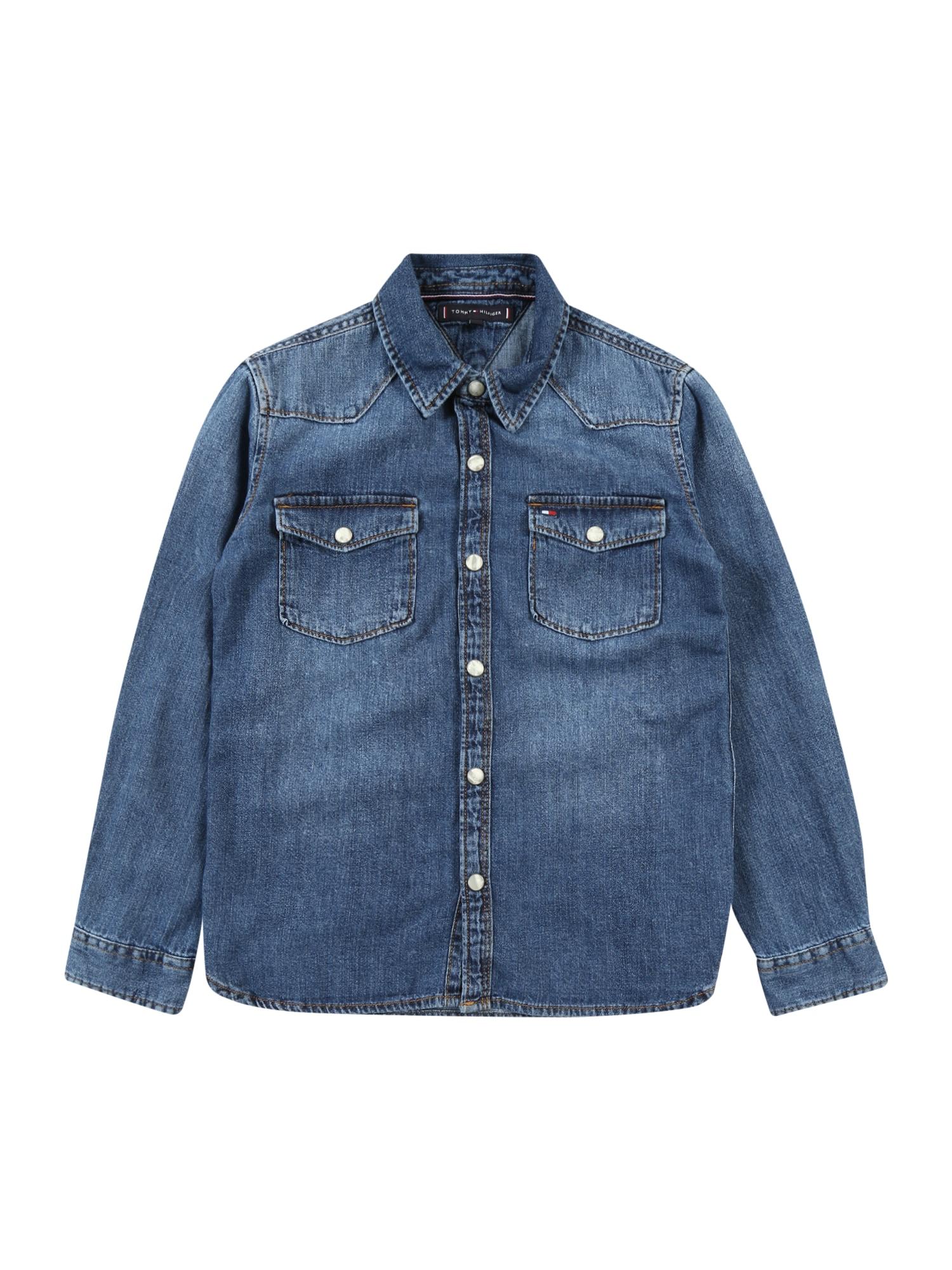 TOMMY HILFIGER Košile  modrá džínovina