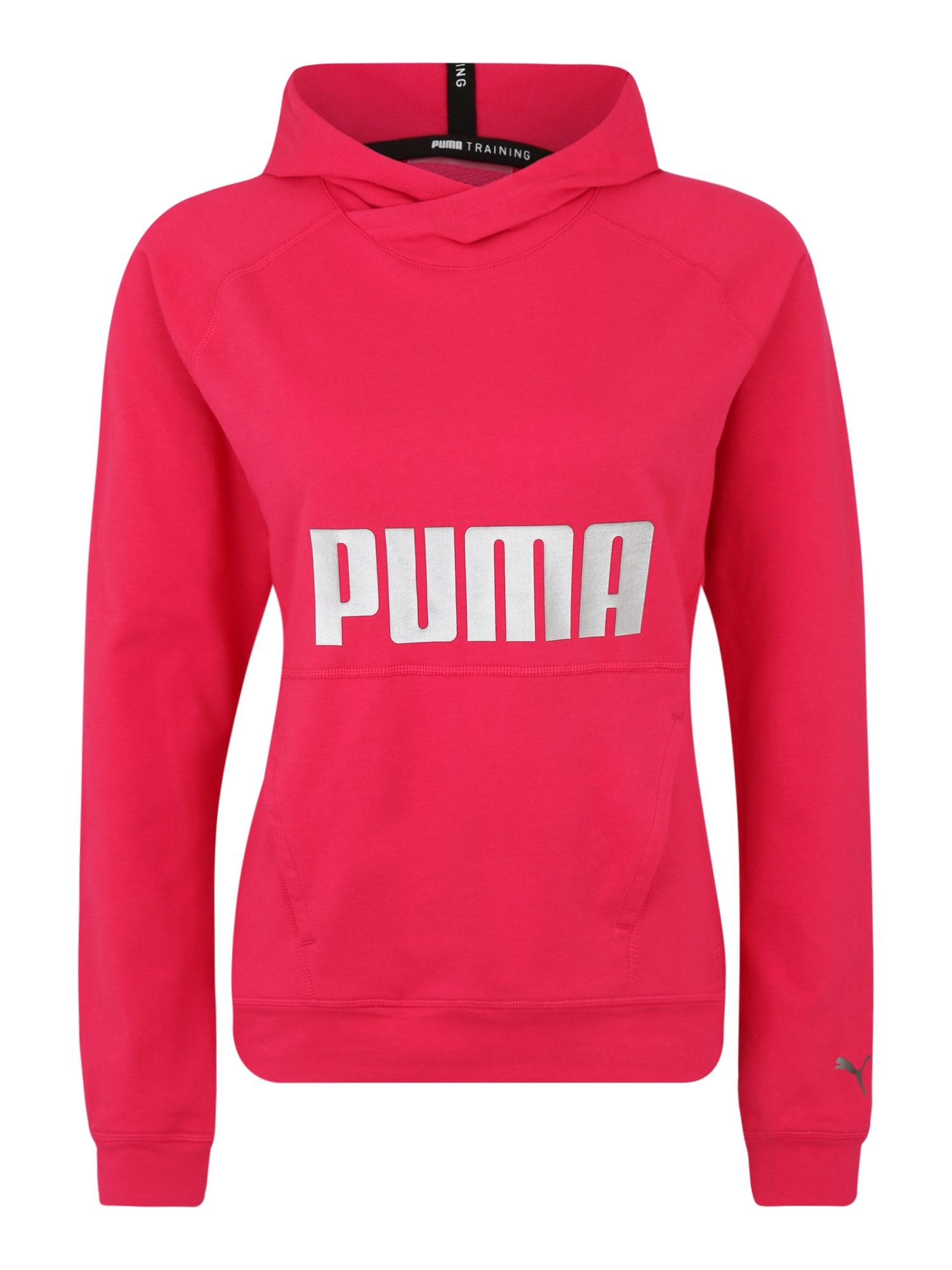PUMA Sportinio tipo megztinis rožinė