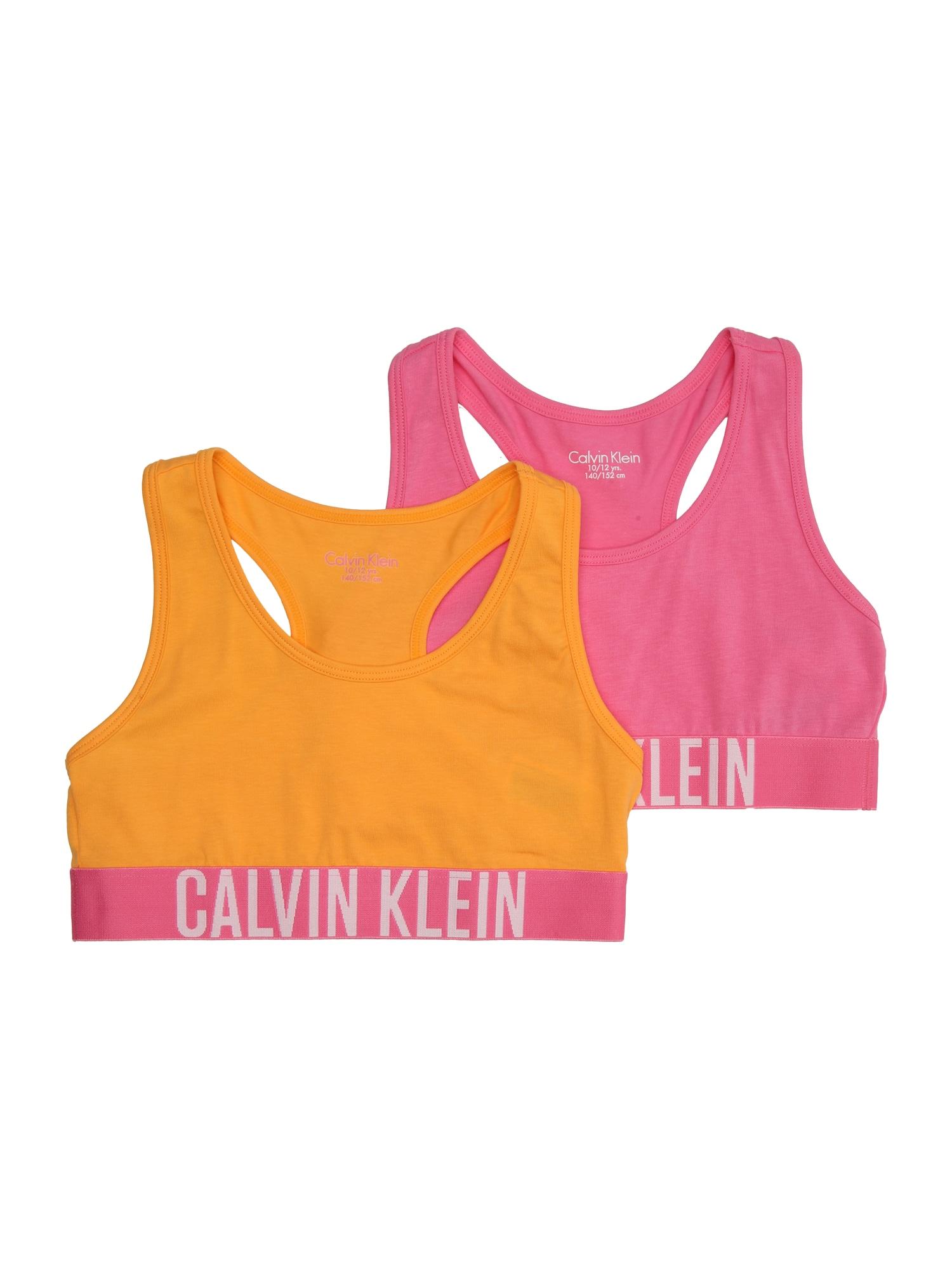 Podprsenka žlutá růžová bílá Calvin Klein Underwear