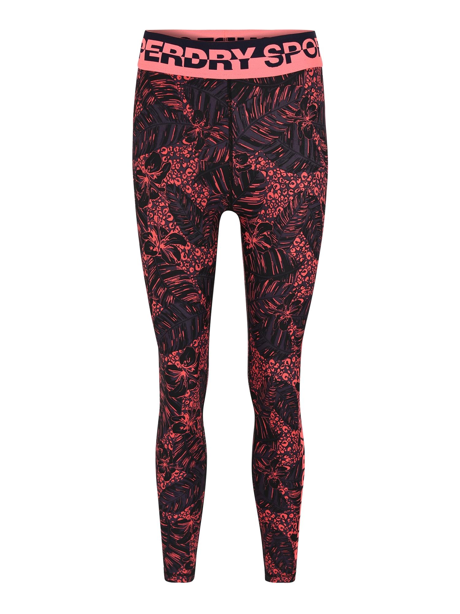 Sportovní kalhoty Core pink černá Superdry