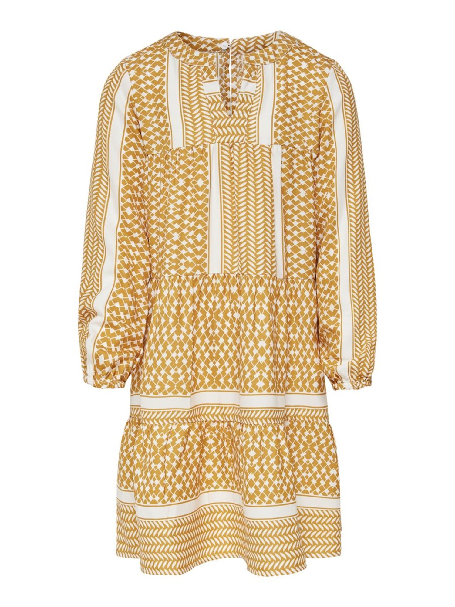 KIDS ONLY Suknelė balta / medaus spalva