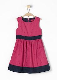 S.Oliver,S.Oliver Junior,s.Oliver Kinder,Mädchen Festliches Kleid mit Alloverprint pink | 04055268153827