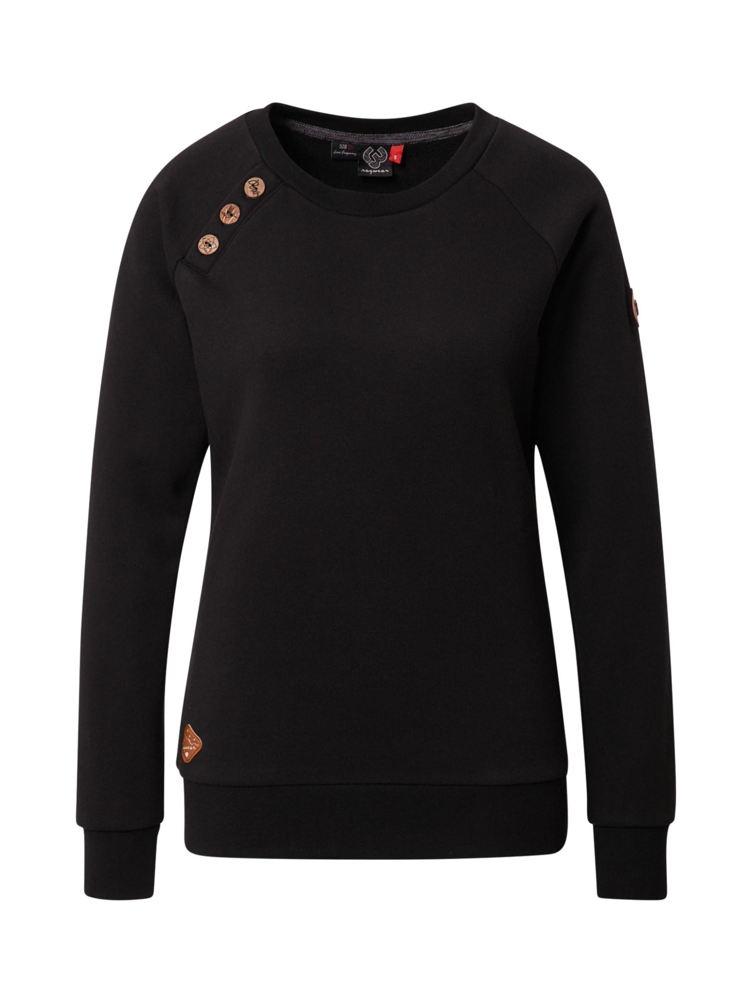 Ragwear Bluză de molton 'DARIA'  negru
