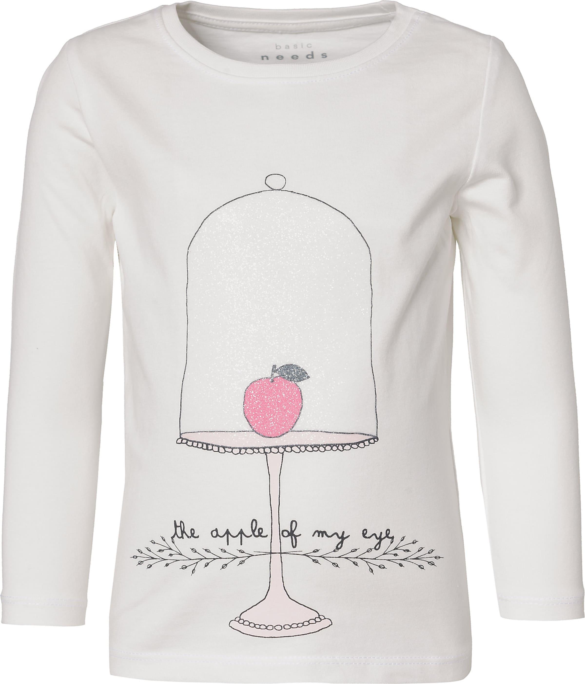 Kinder,  Mädchen,  Kinder NAME IT Shirt 'Nmfveen' pink,  schwarz,  weiß | 05714490699273